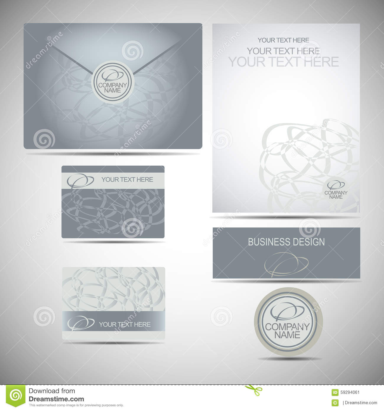 Corporate style sign logo business card envelope template leaf template of a corporate style for a bisnes the business card an envelope with a logo friedricerecipe Images