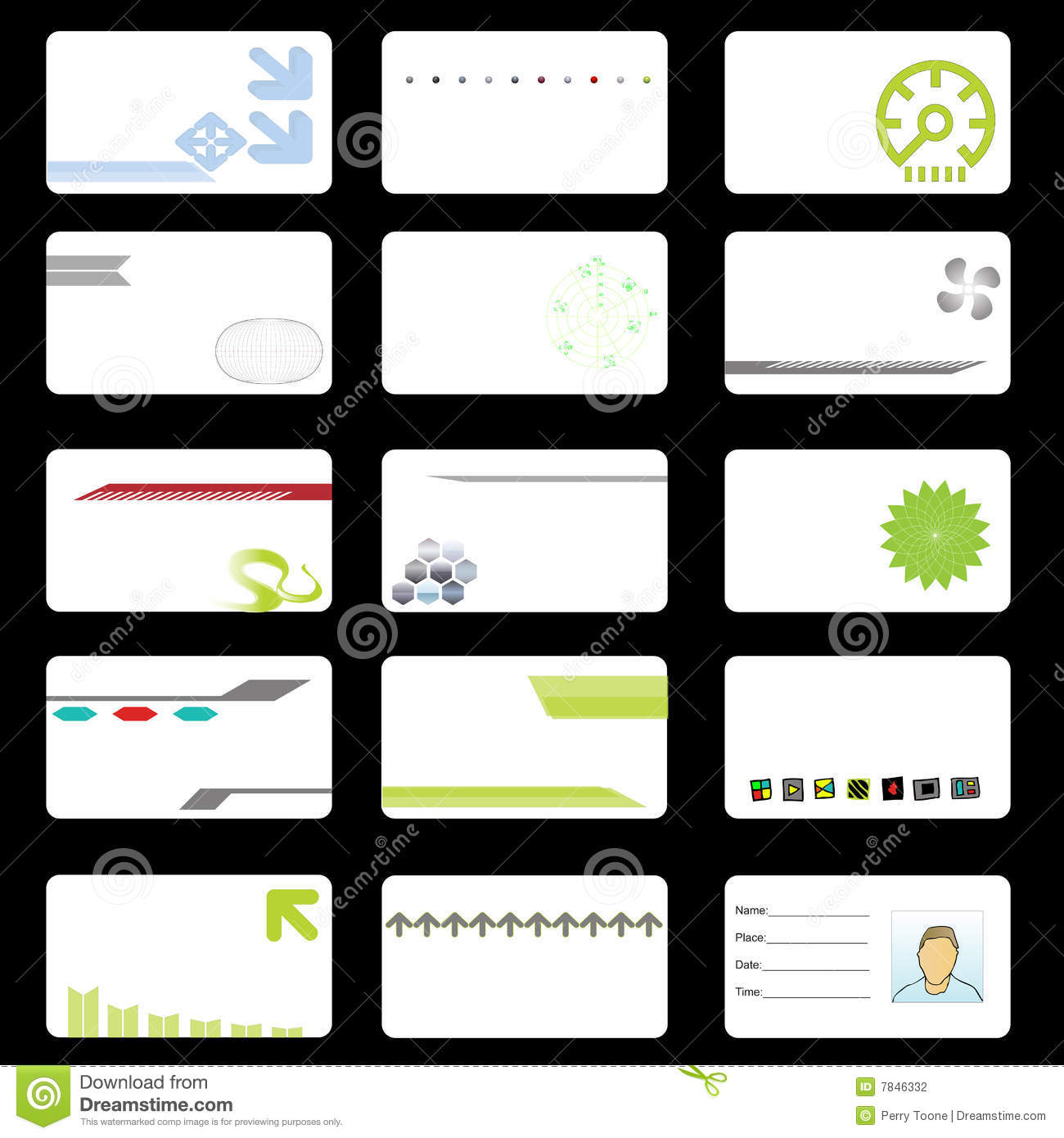 Corporate Tech Business Cards Stock Photography - Image: 7846332