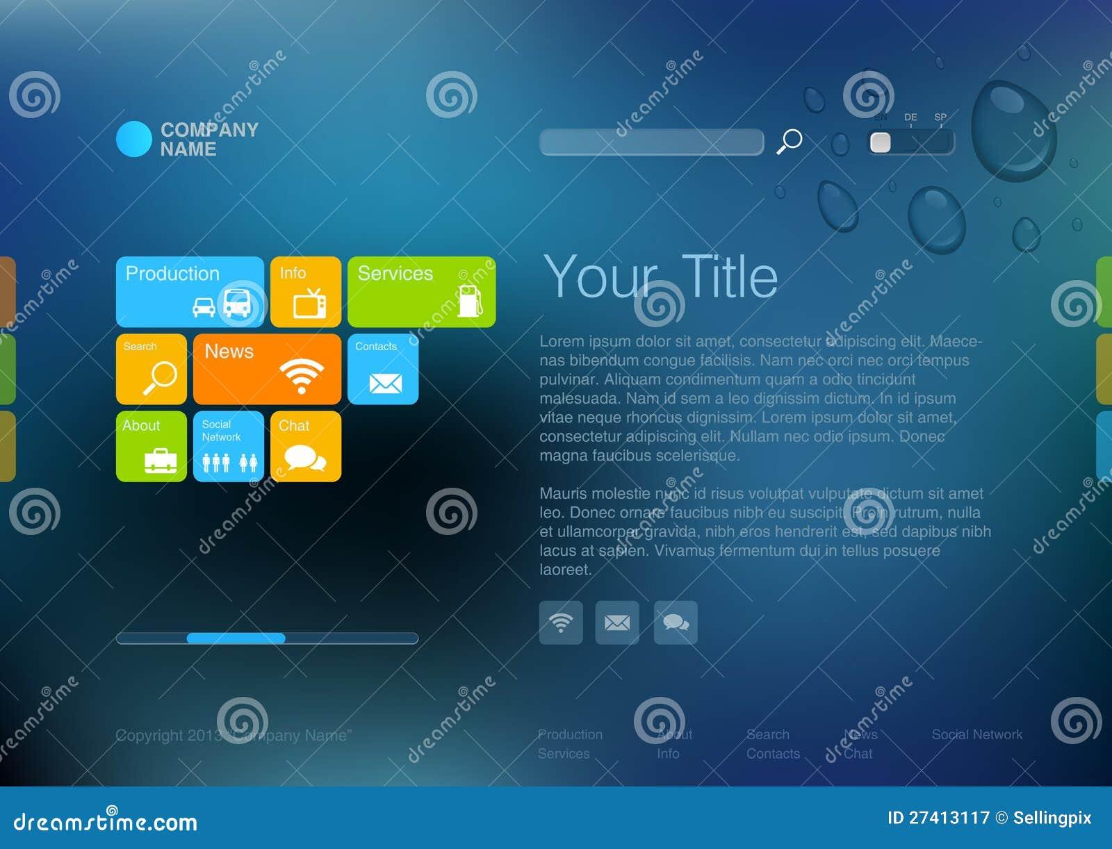 Corporate Website Template. Stock Vector - Illustration: 27413117