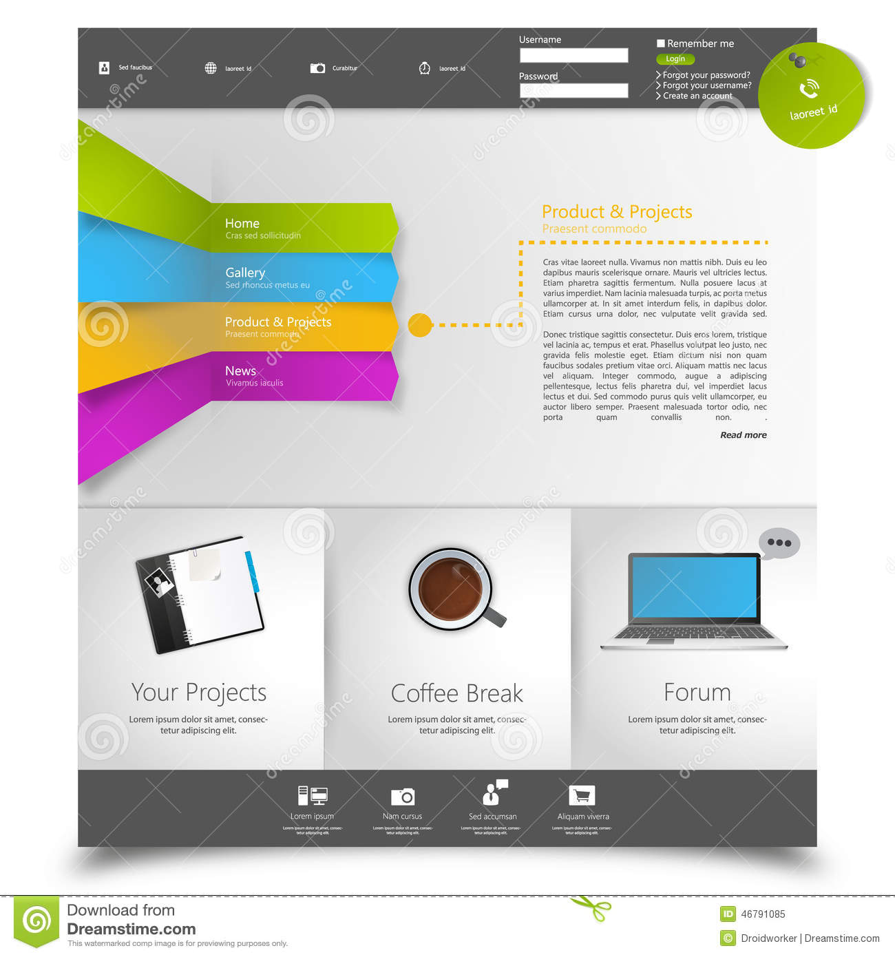 corporate website template creative web multifunctional