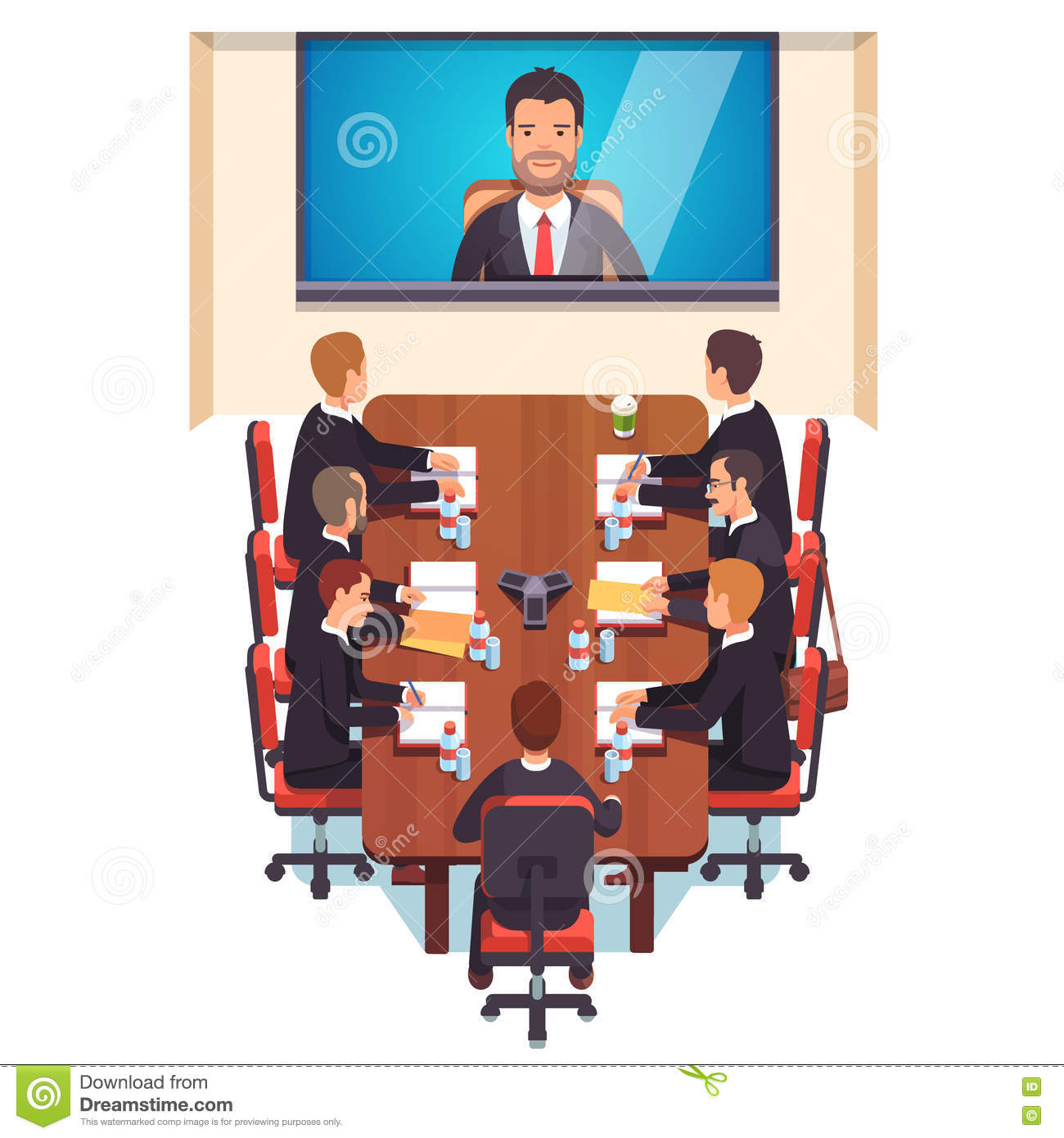 Corporation Directors Board Stock Vector - Illustration of ...