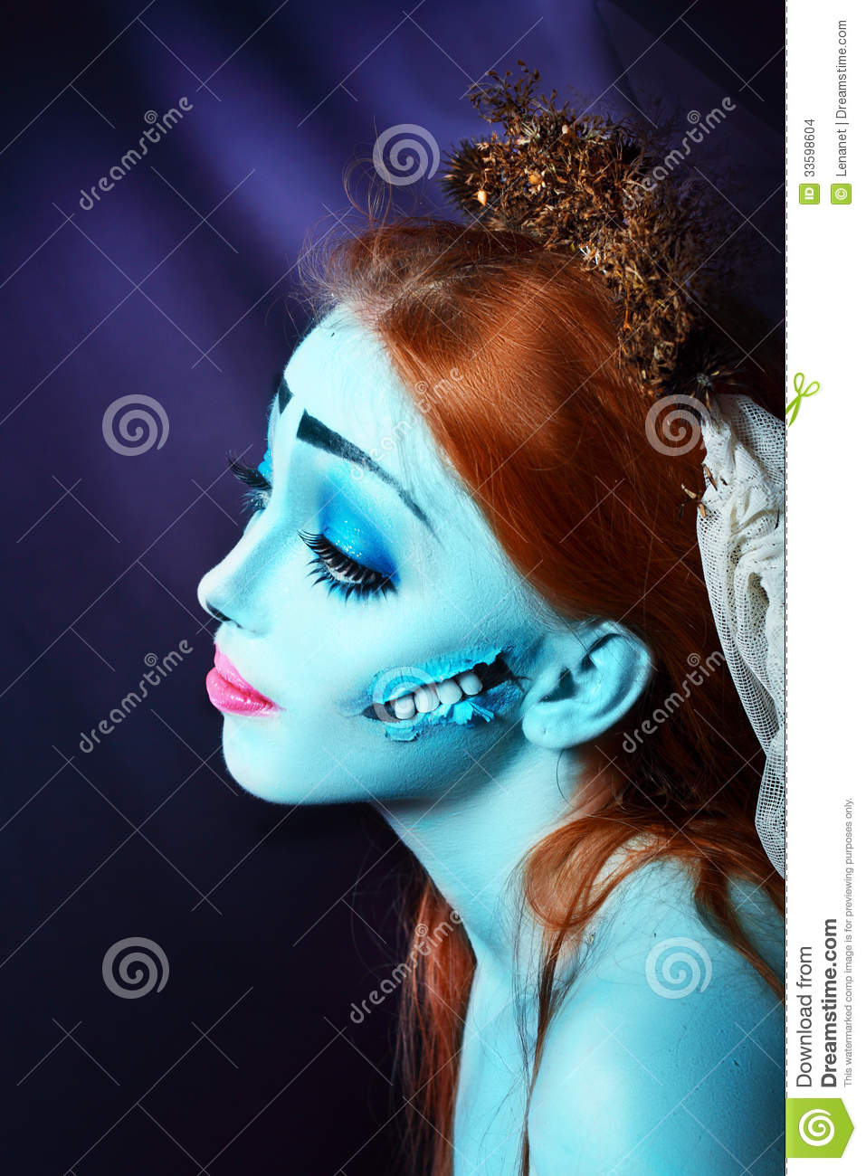 corpse bride stock photo image of beautiful evil model