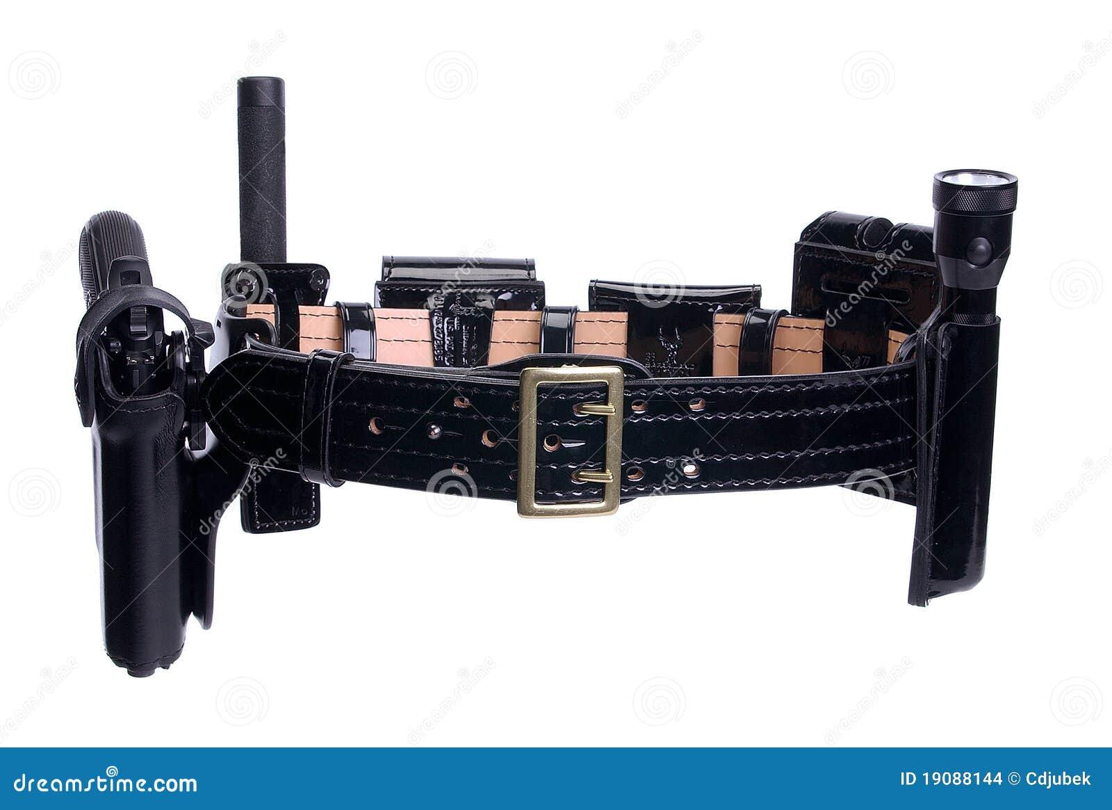 Correa de la pistolera del arma del oficial de policía