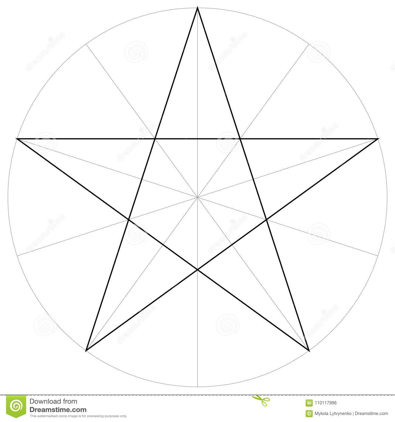 d3b27fbb7bb6c Correct form shape template geometric shape of the pentagram five pointed  star, vector drawing the