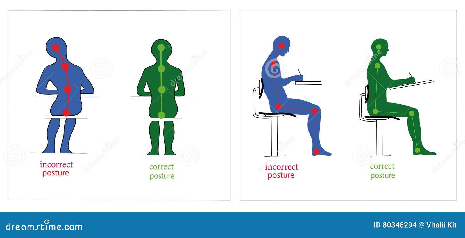 Improve Posture While Sitting At Desk