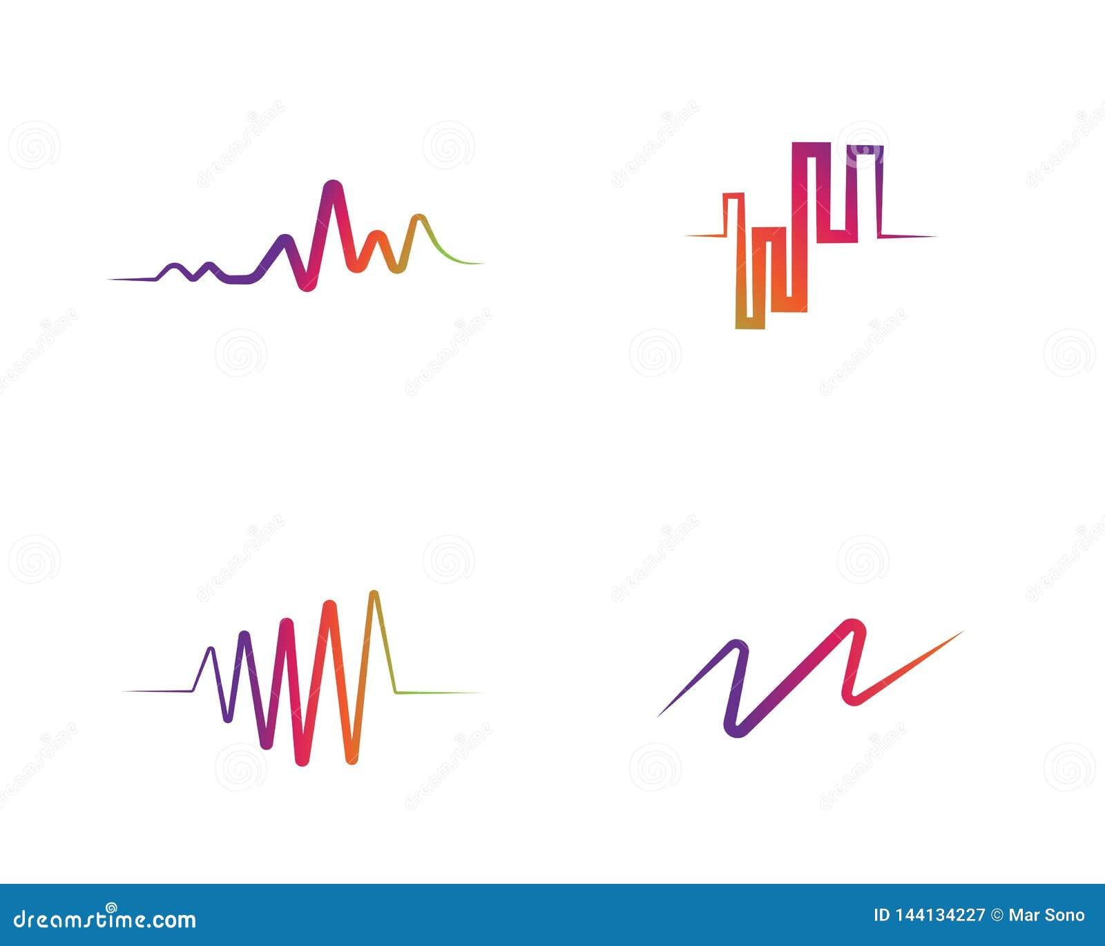 Correcte golven vectorillustratie