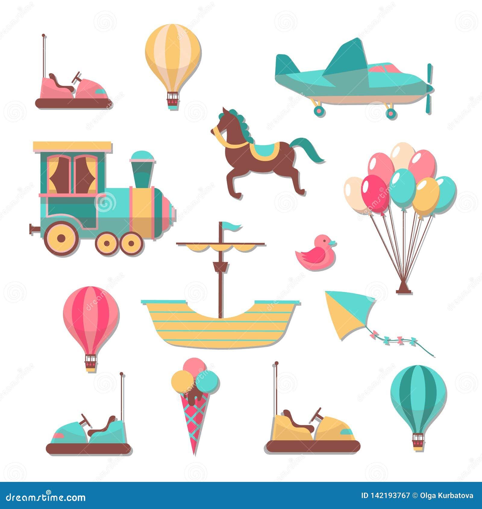 Corrections de Scrapbooking Autocollants mignons à la mode de jeux de carrousels de bande dessinée d enfant d amusement pour l