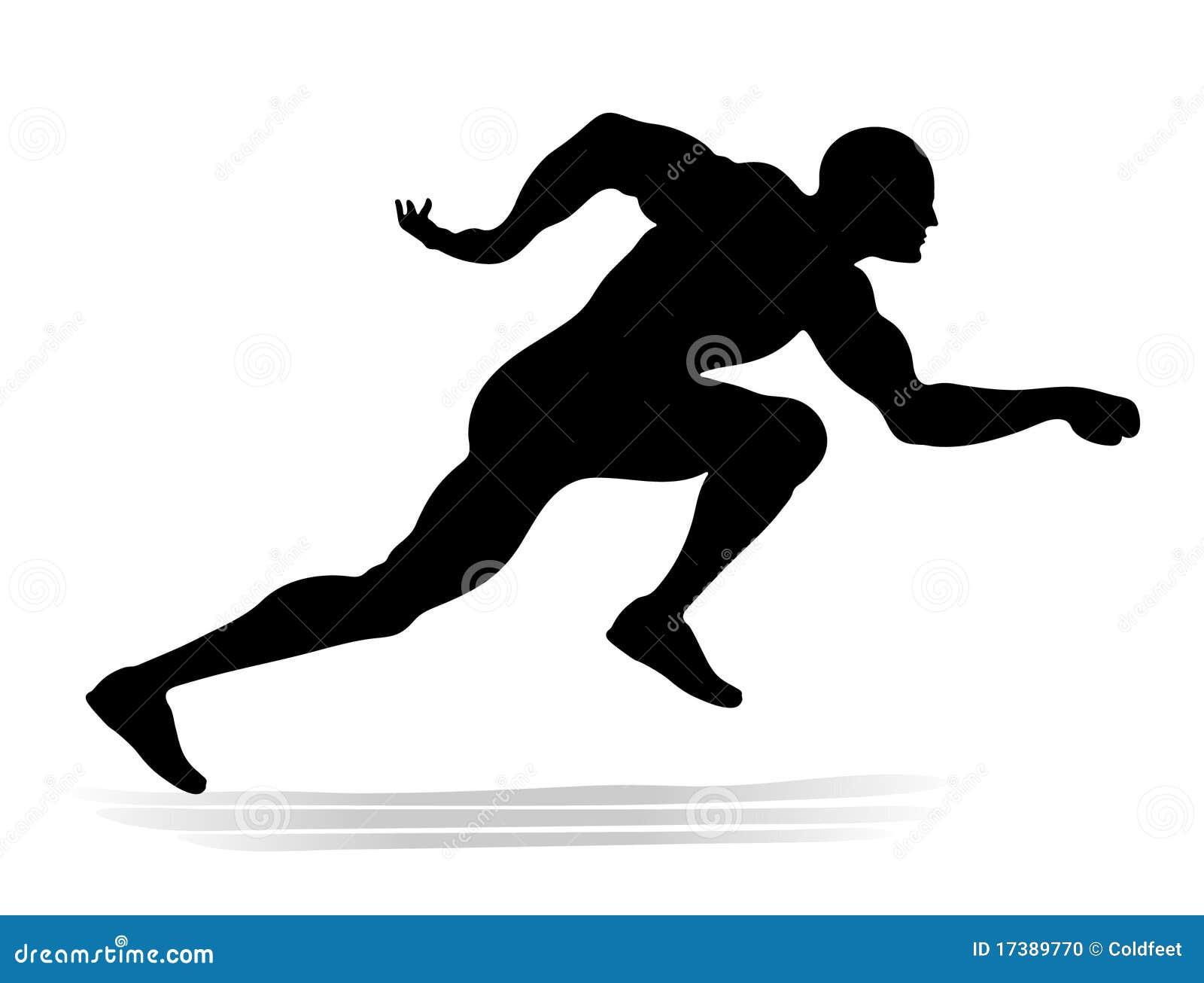 corredor ilustraci n del vector ilustraci n de atl tico