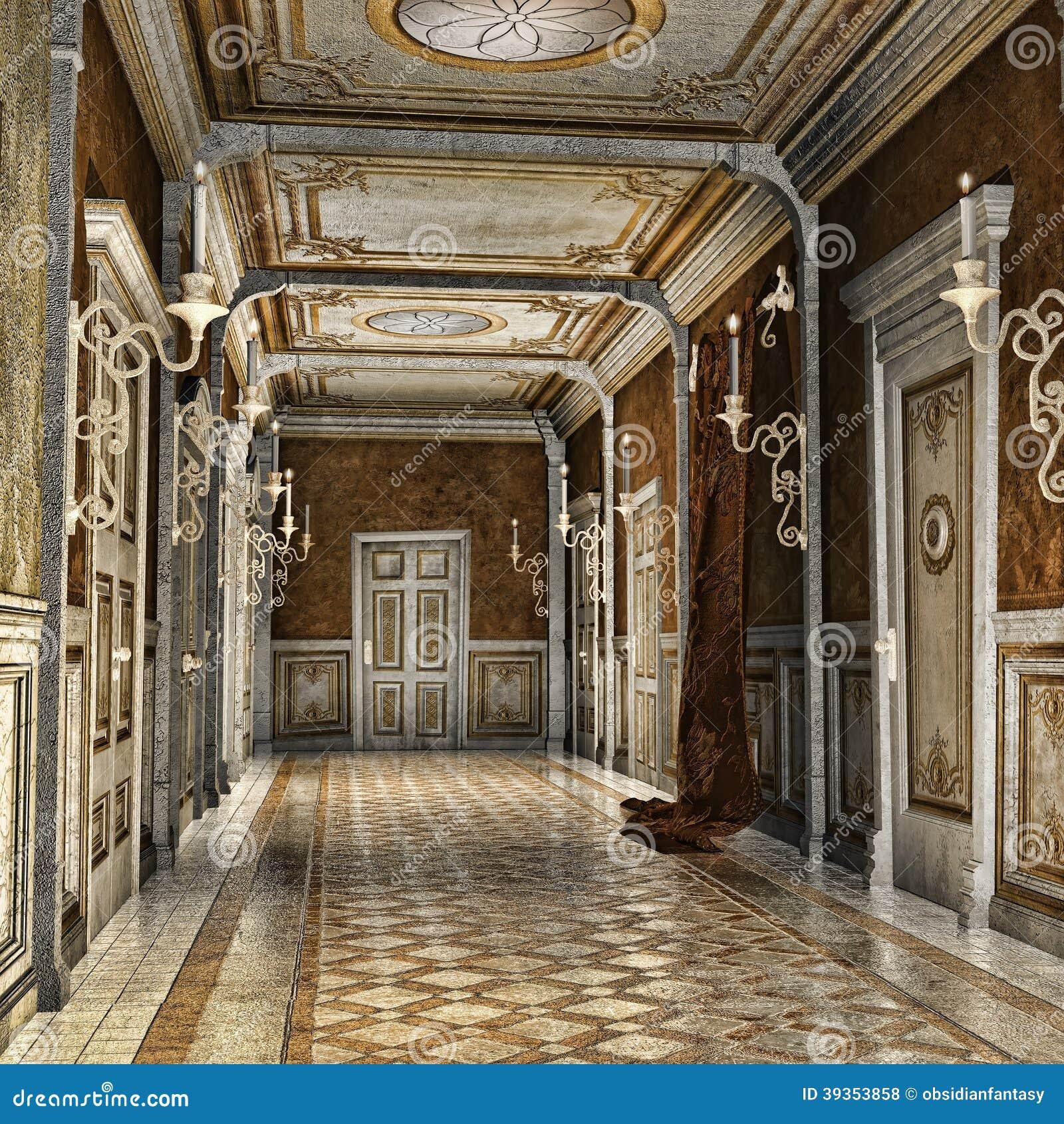 Corredor em um palácio