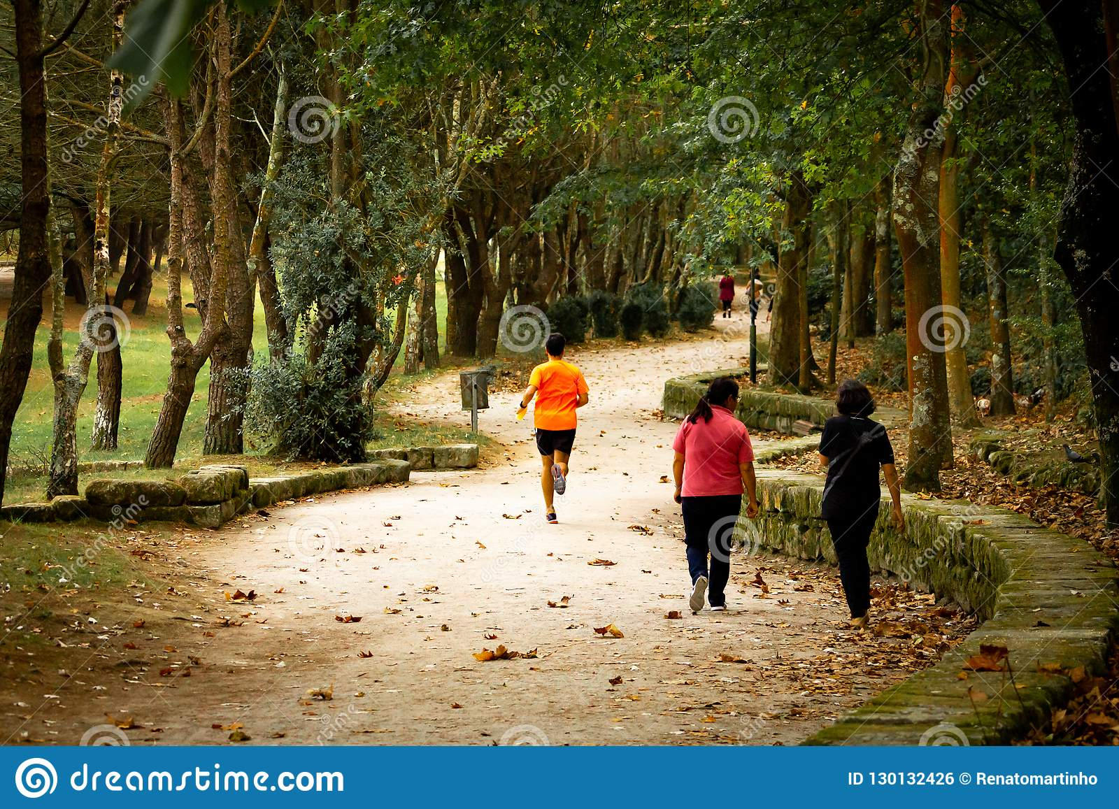Corredor en el parque