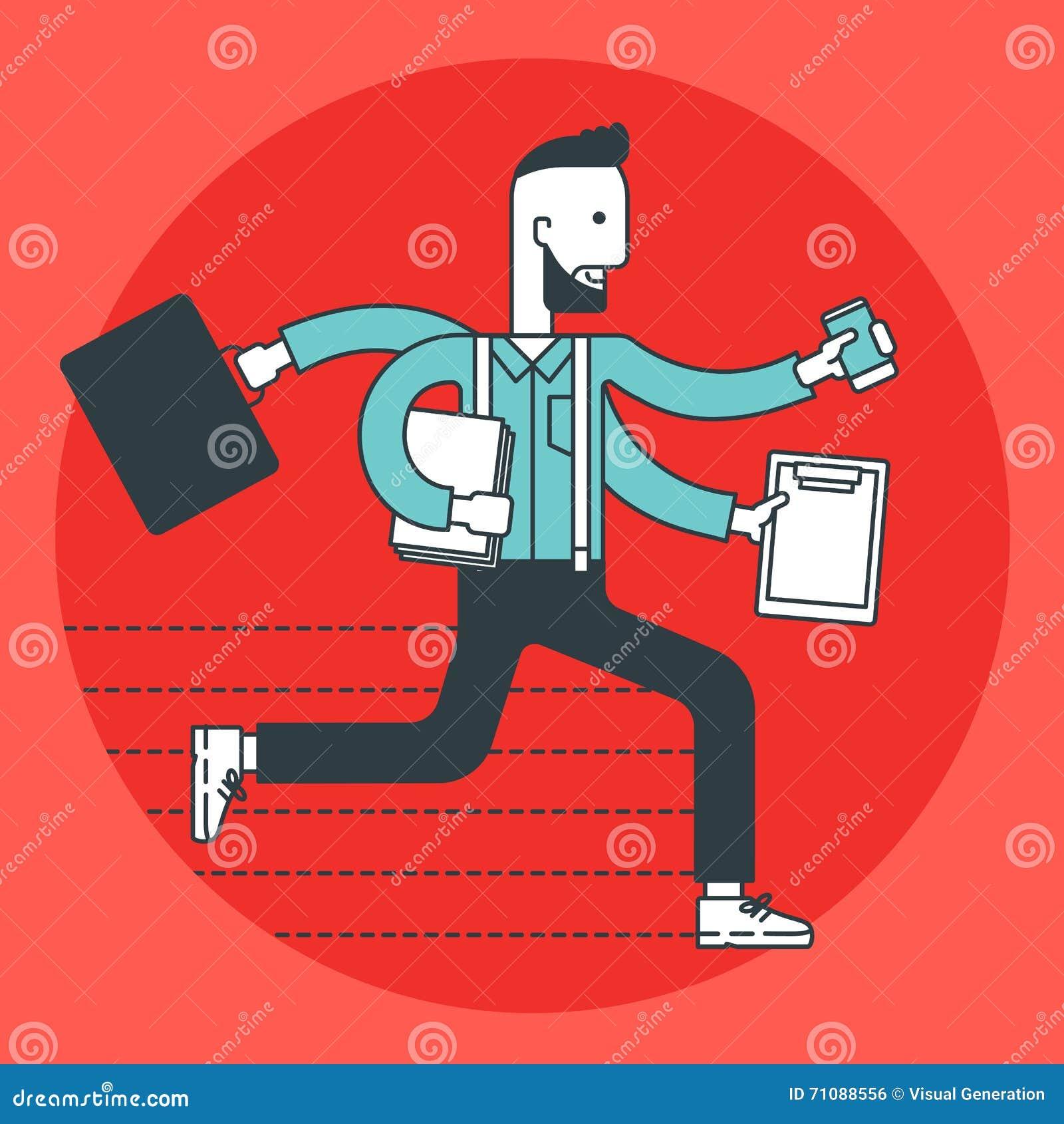 Corredor ocupado do homem de negócios