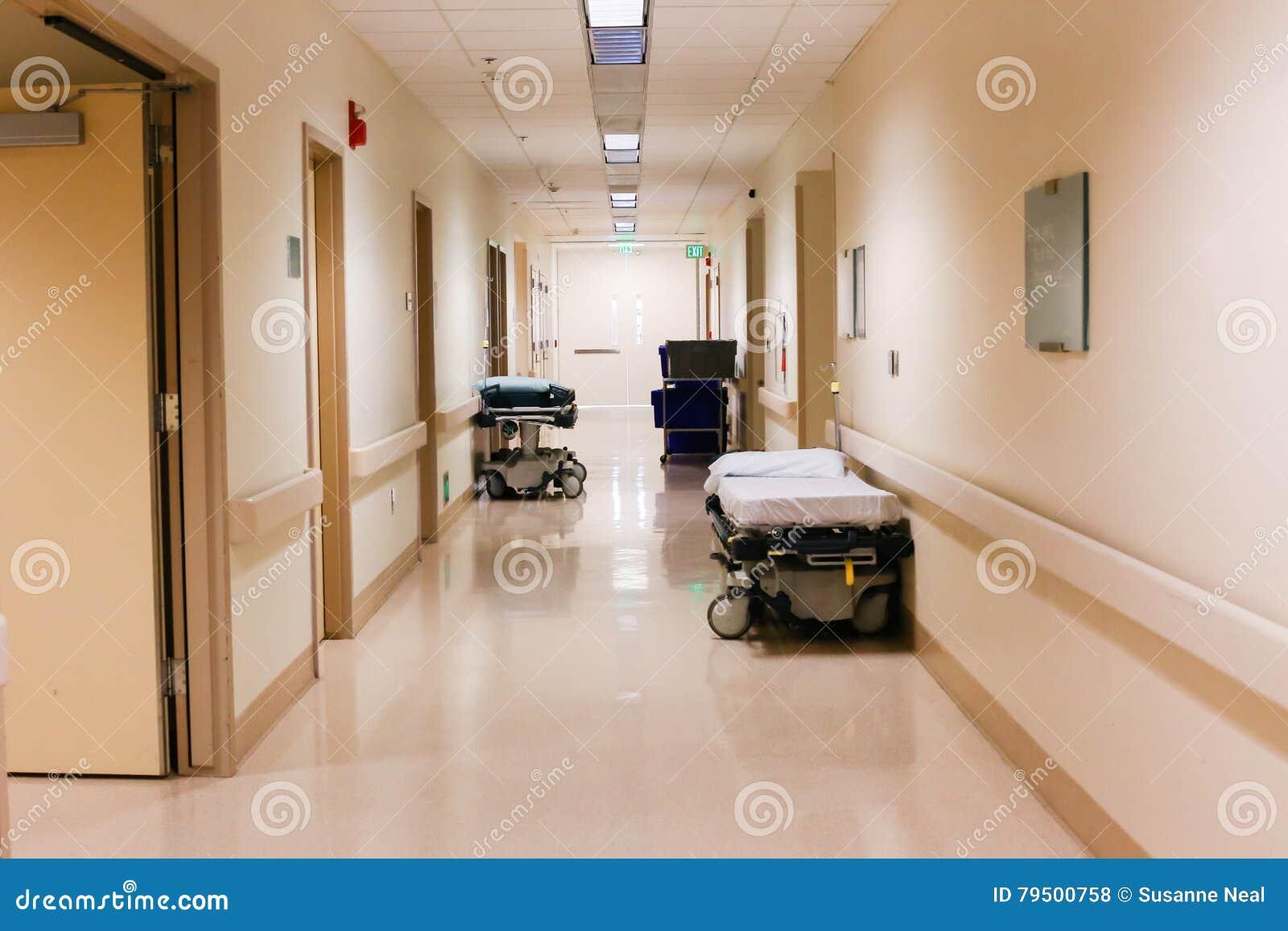 Corredor ou corredor no hospital ou na facilidade médica