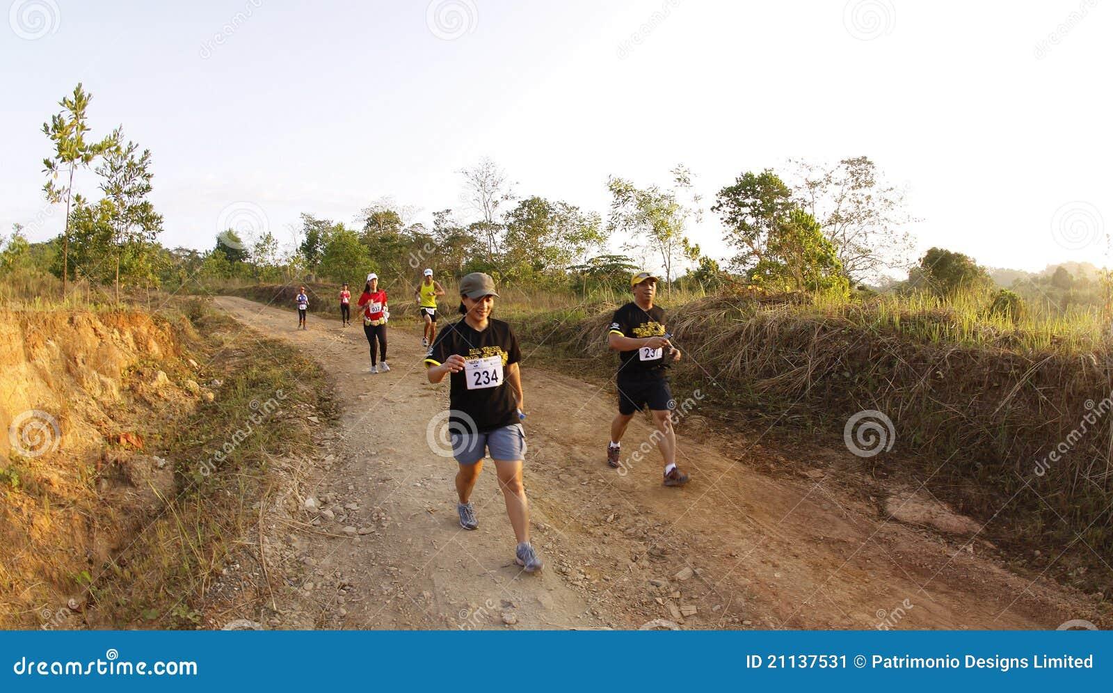 Corredores del rastro del maratón