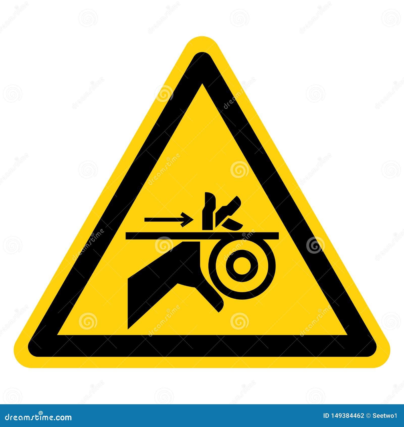 Correia da complica??o da m?o e isolado do sinal do s?mbolo dos rolos no fundo branco, ilustra??o do vetor
