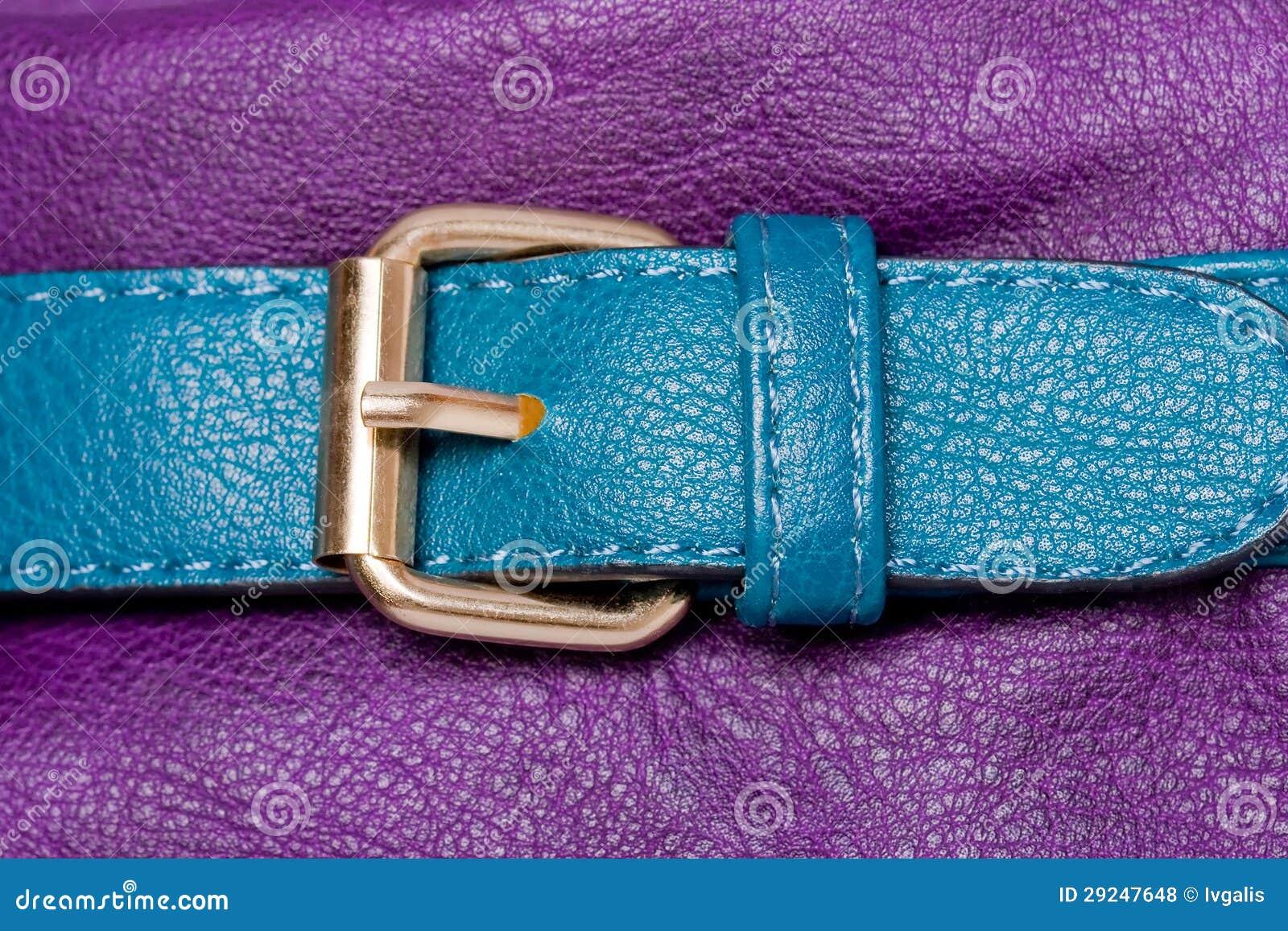 Download Correia De Couro Do Falso Azul Na Violeta Foto de Stock - Imagem de macro, brilhante: 29247648