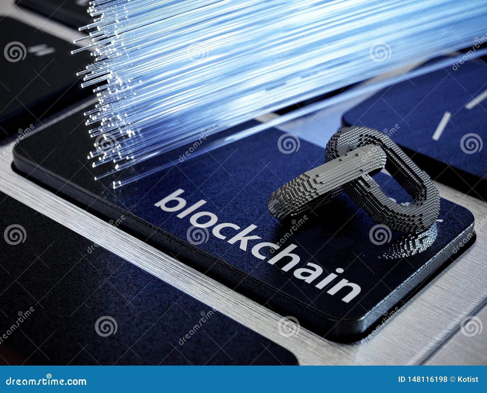 Corrente digital de Blockchain