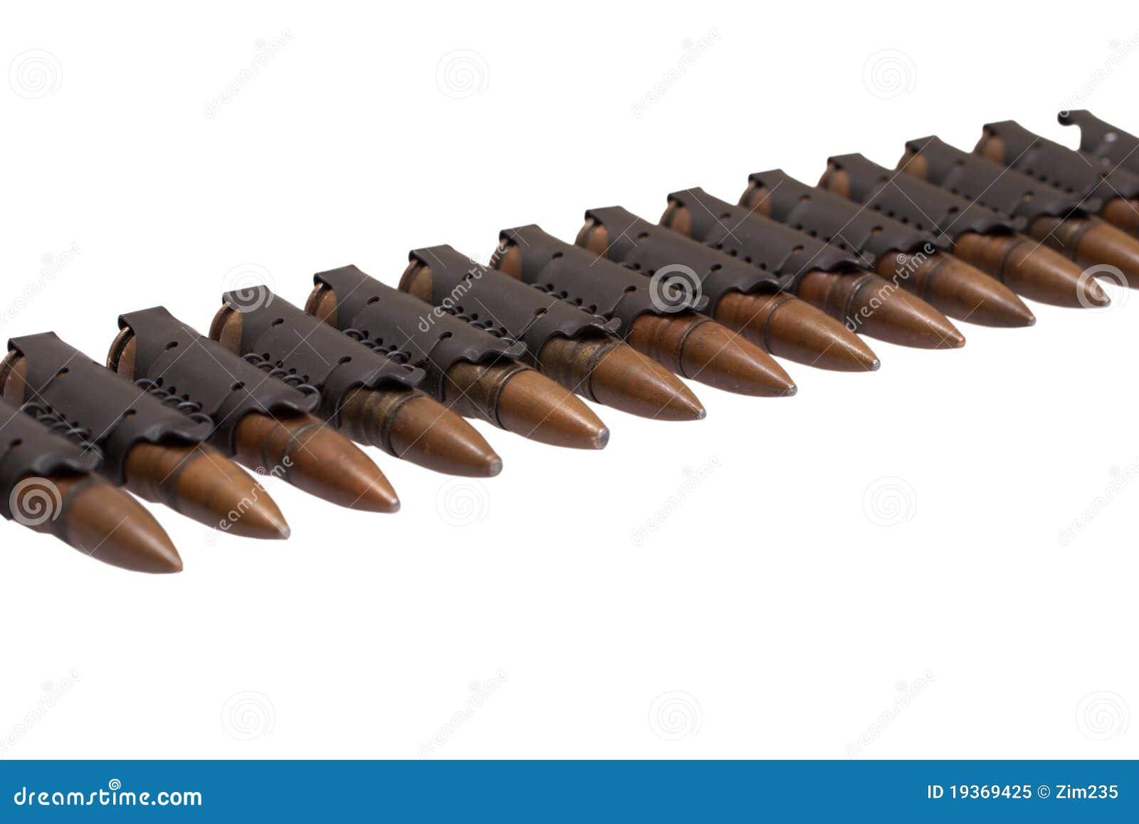 Corrente preta dos cartuchos M1943 poderosos