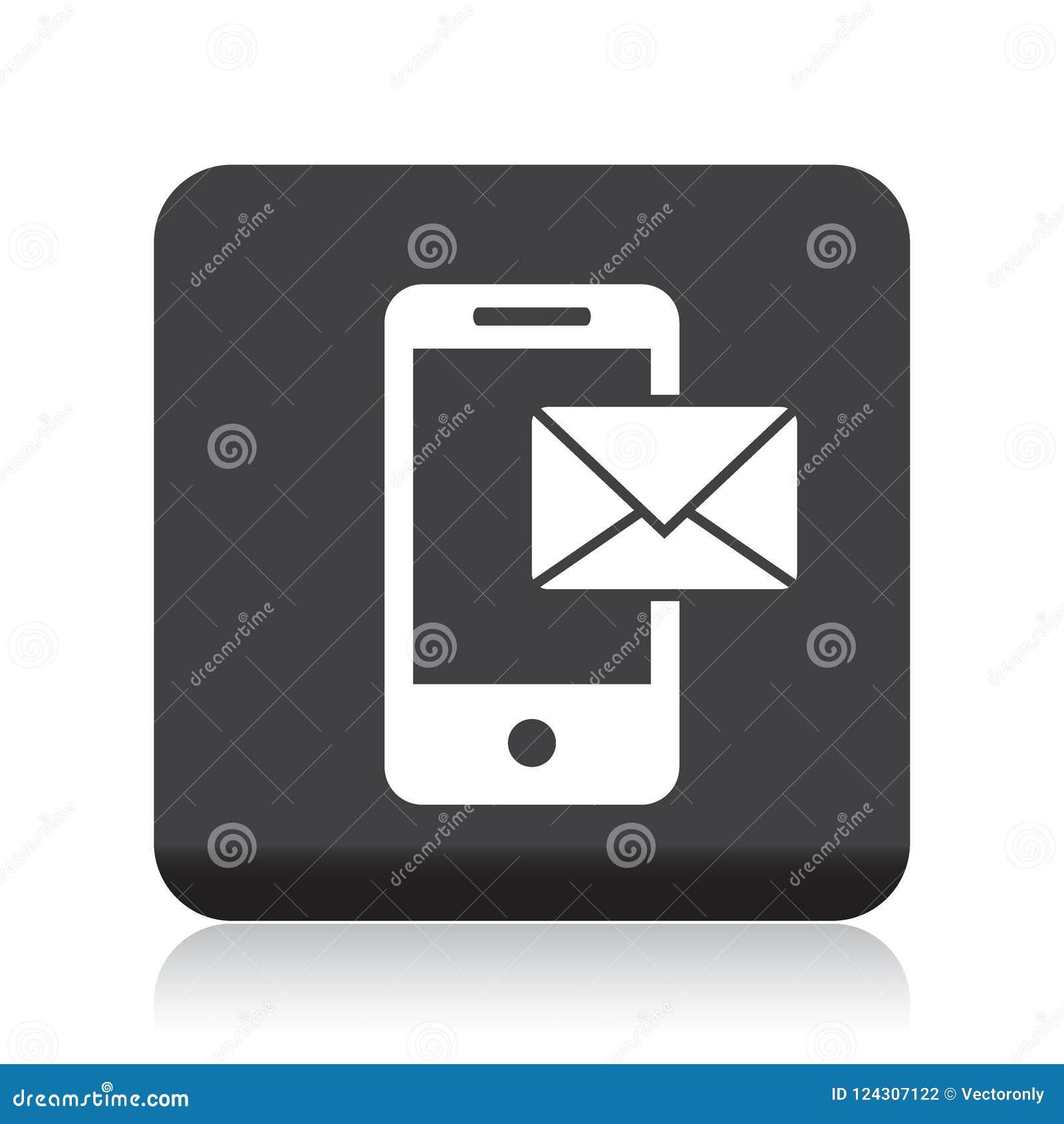 Correo en icono móvil