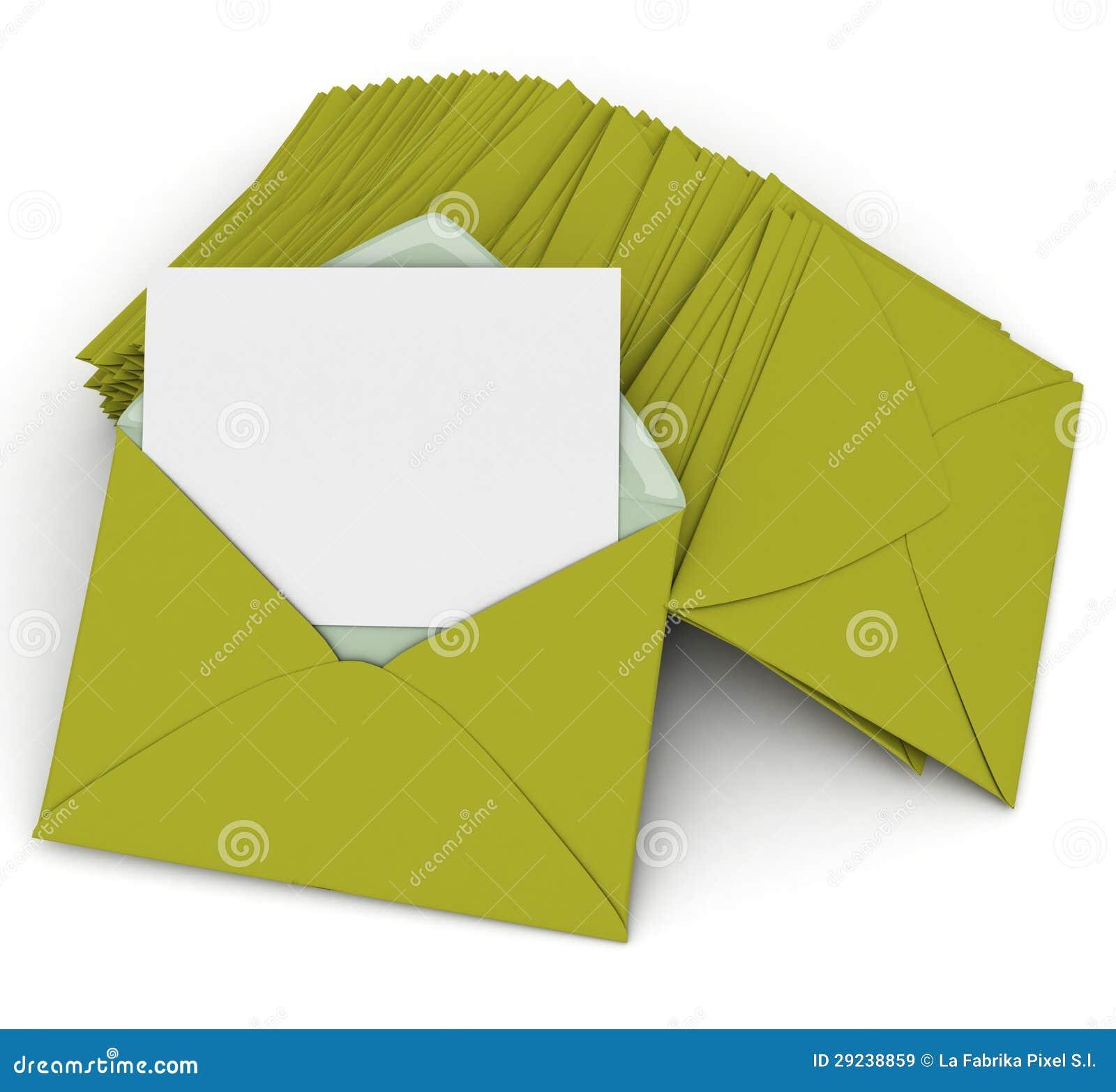 Download Correspondência no verde ilustração stock. Ilustração de anúncio - 29238859