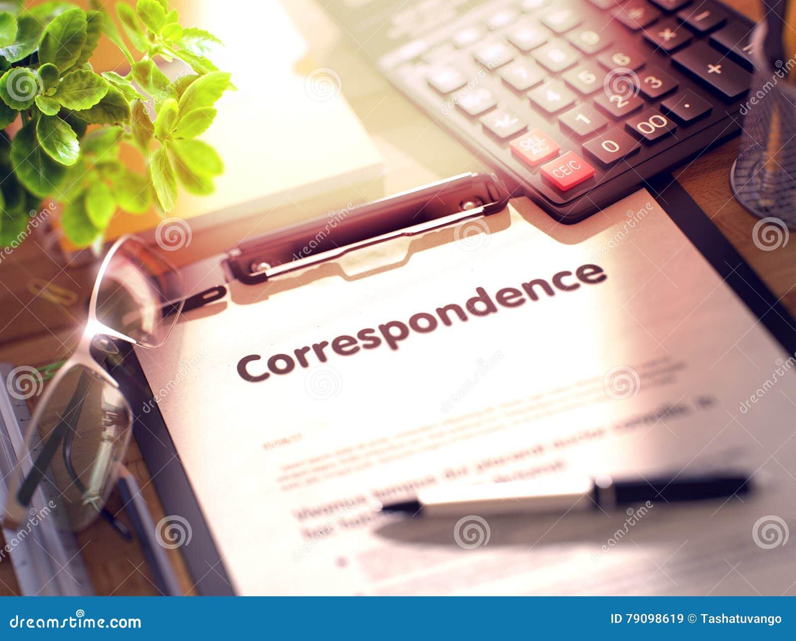 Correspondance sur le presse-papiers 3d