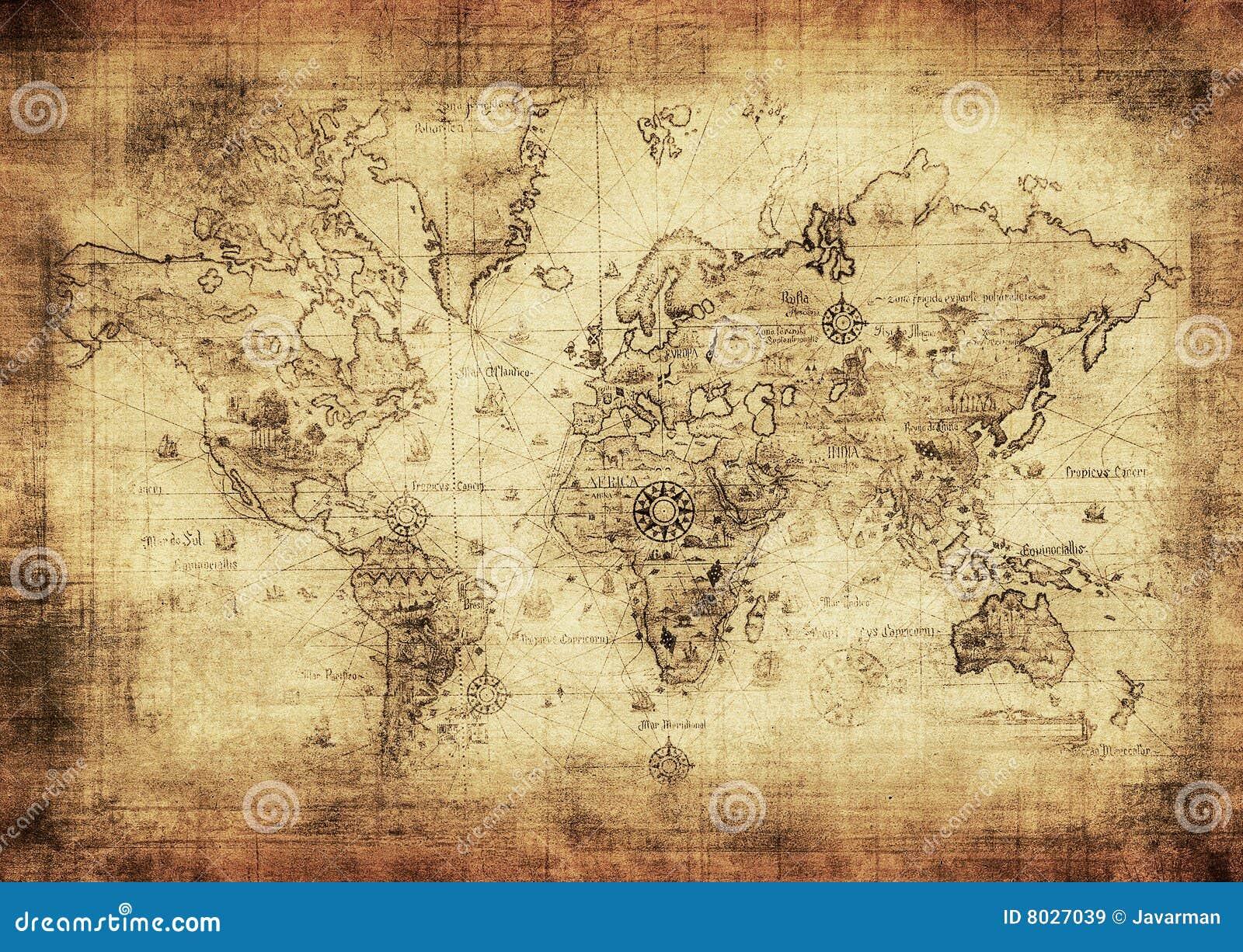 Correspondencia antigua del mundo