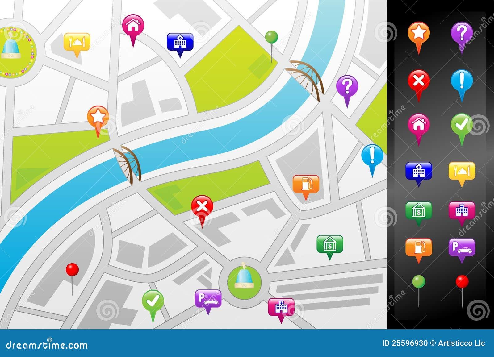 Correspondencia de calle del GPS