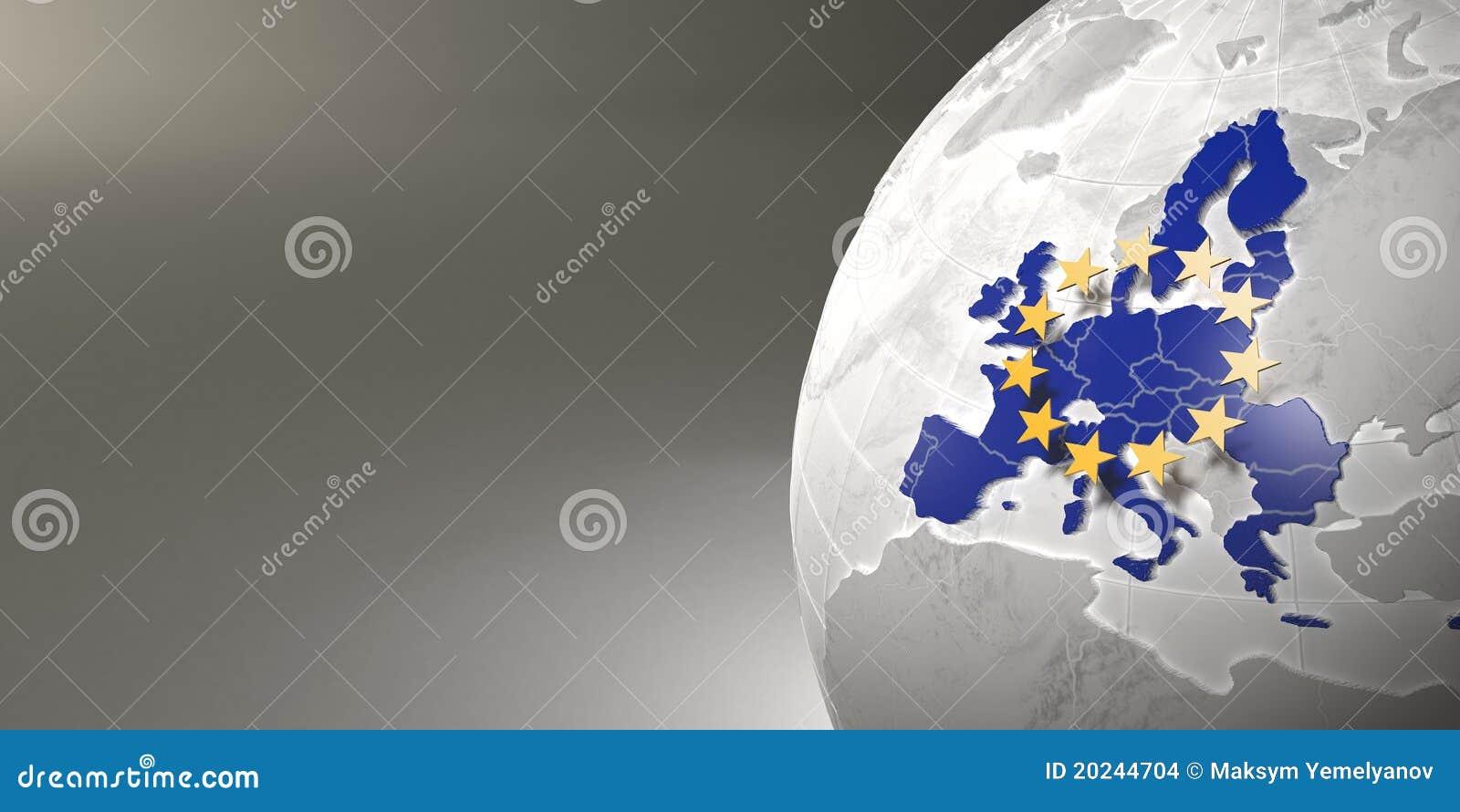 Correspondencia de la unión europea en la tierra
