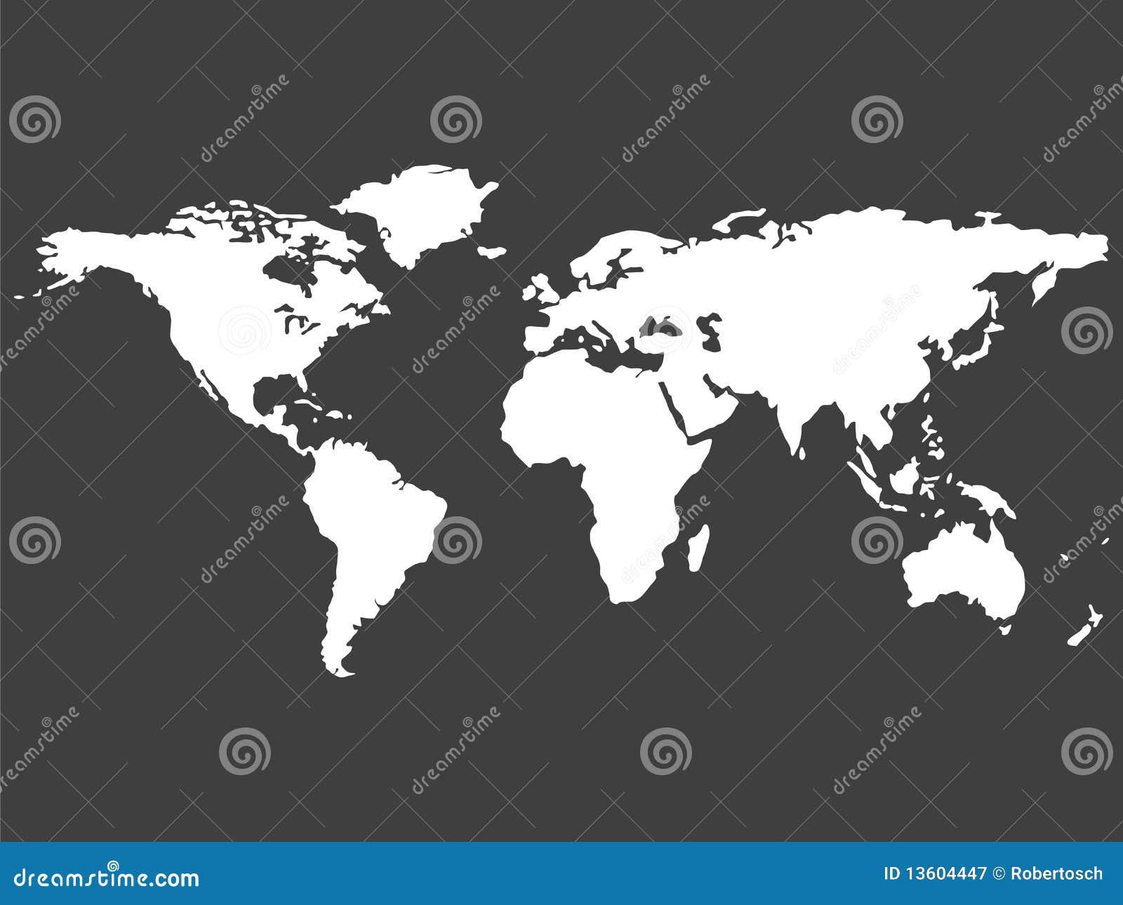 Correspondencia de mundo blanca aislada en fondo gris