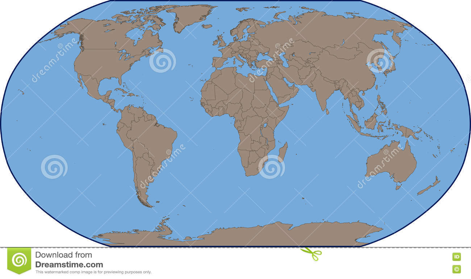 Mapa Del Mundo Vacio.Correspondencia De Mundo Vacia Ilustracion Del Vector
