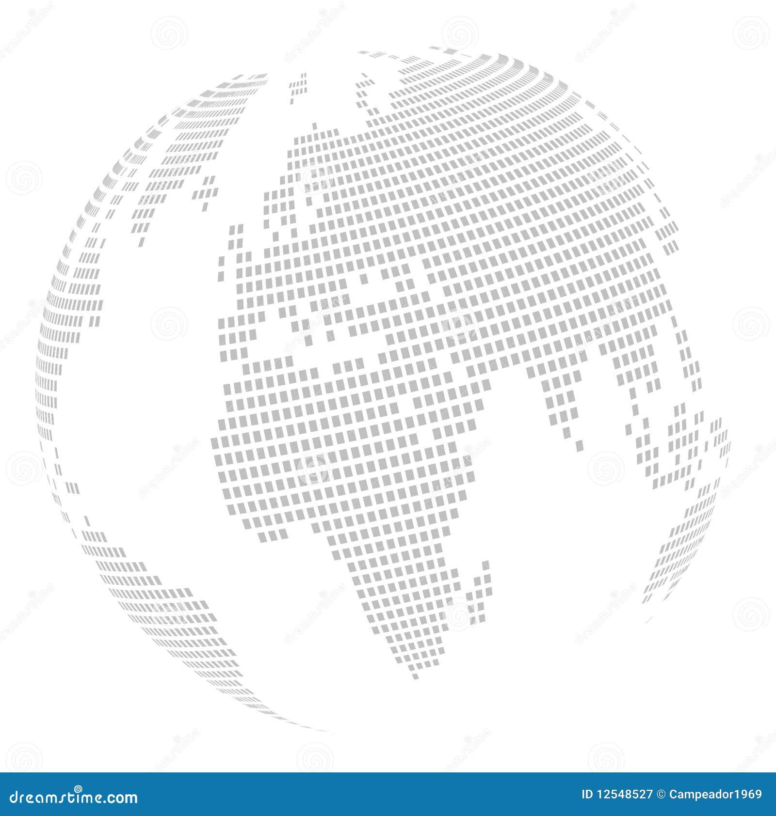 Correspondencia del globo del mundo: cuadrado - rompecabezas