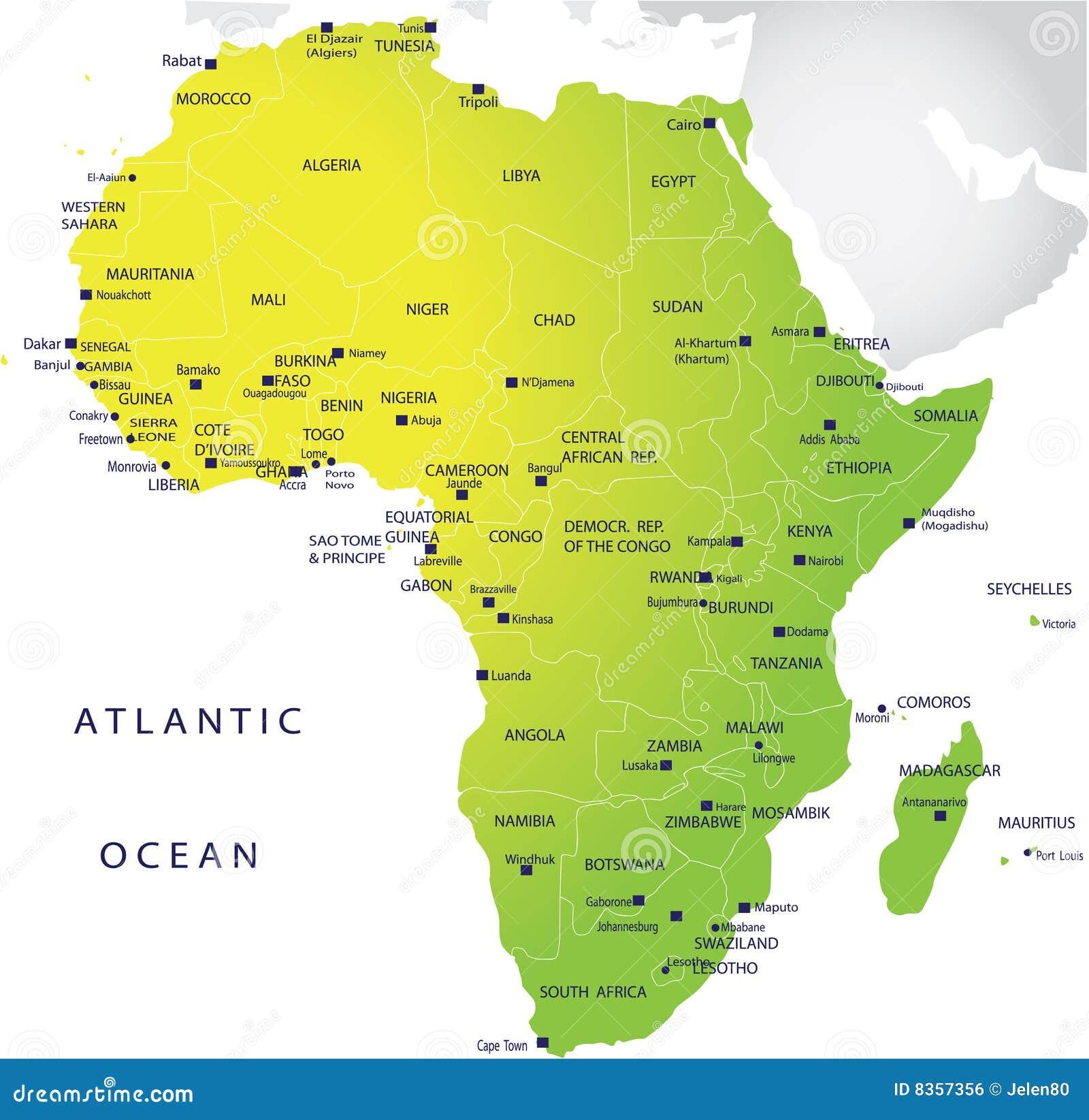 Correspondencia política de África