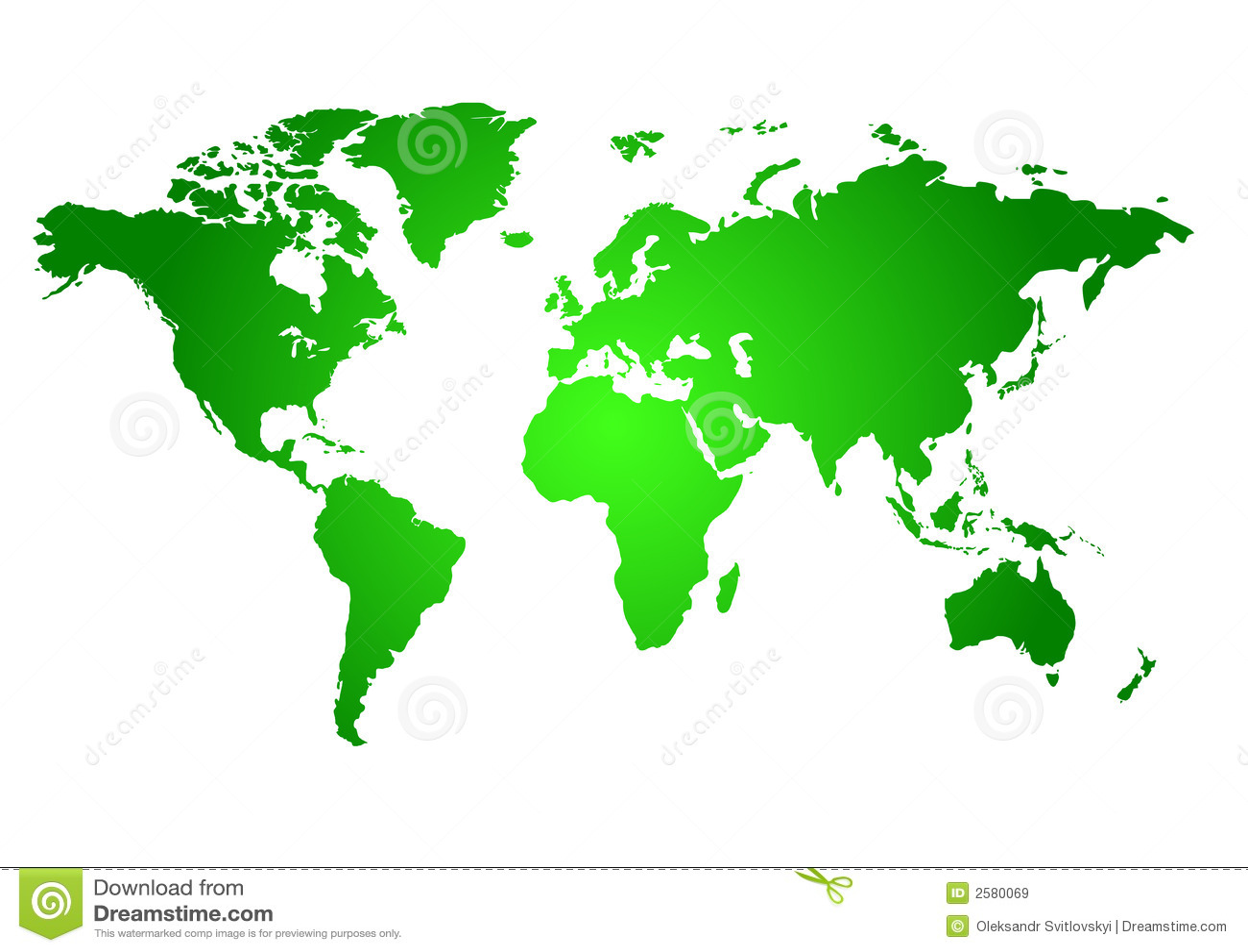 Correspondencia verde del mundo