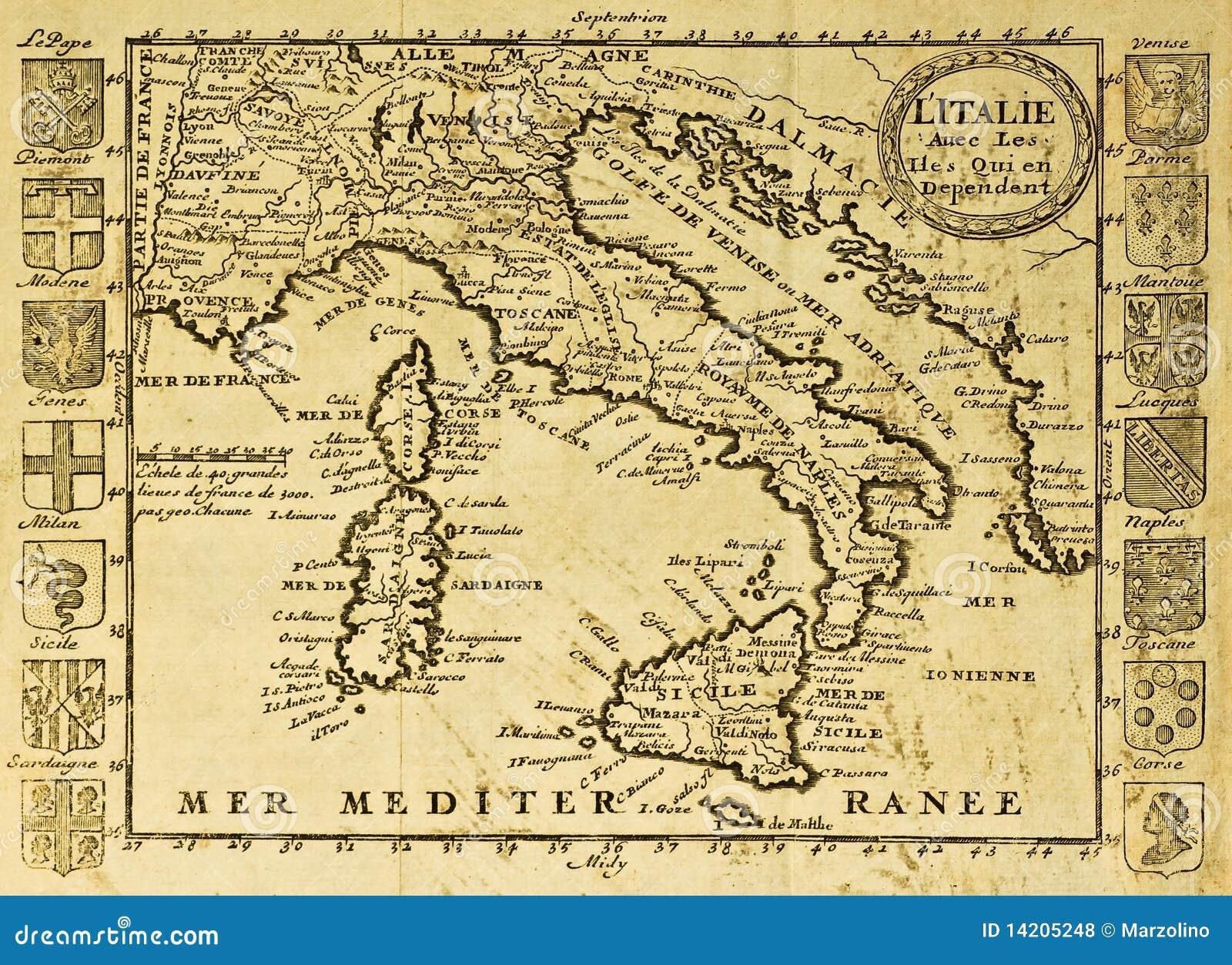 Correspondencia vieja de Italia