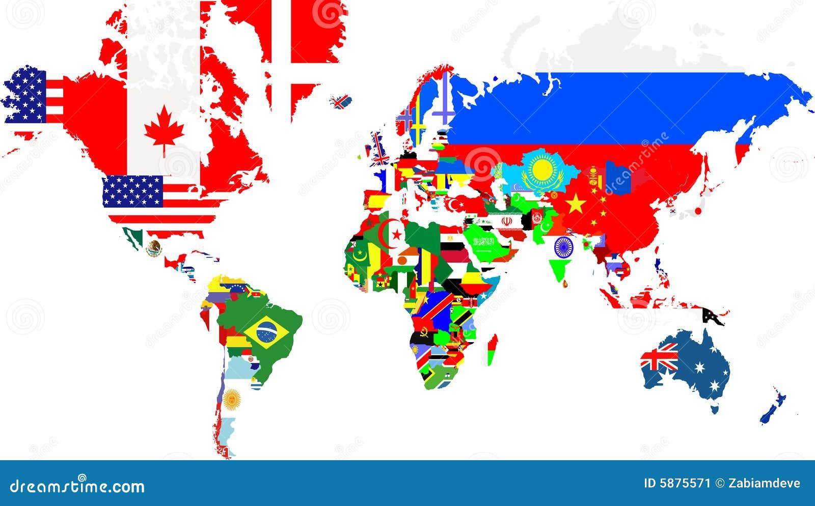 Mapas del esquema del mundo con