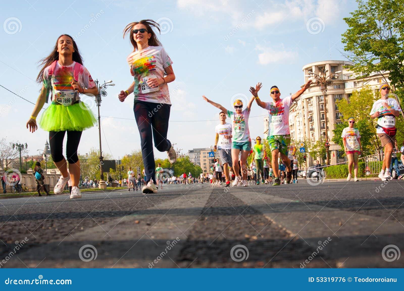 Corrida Bucareste da cor