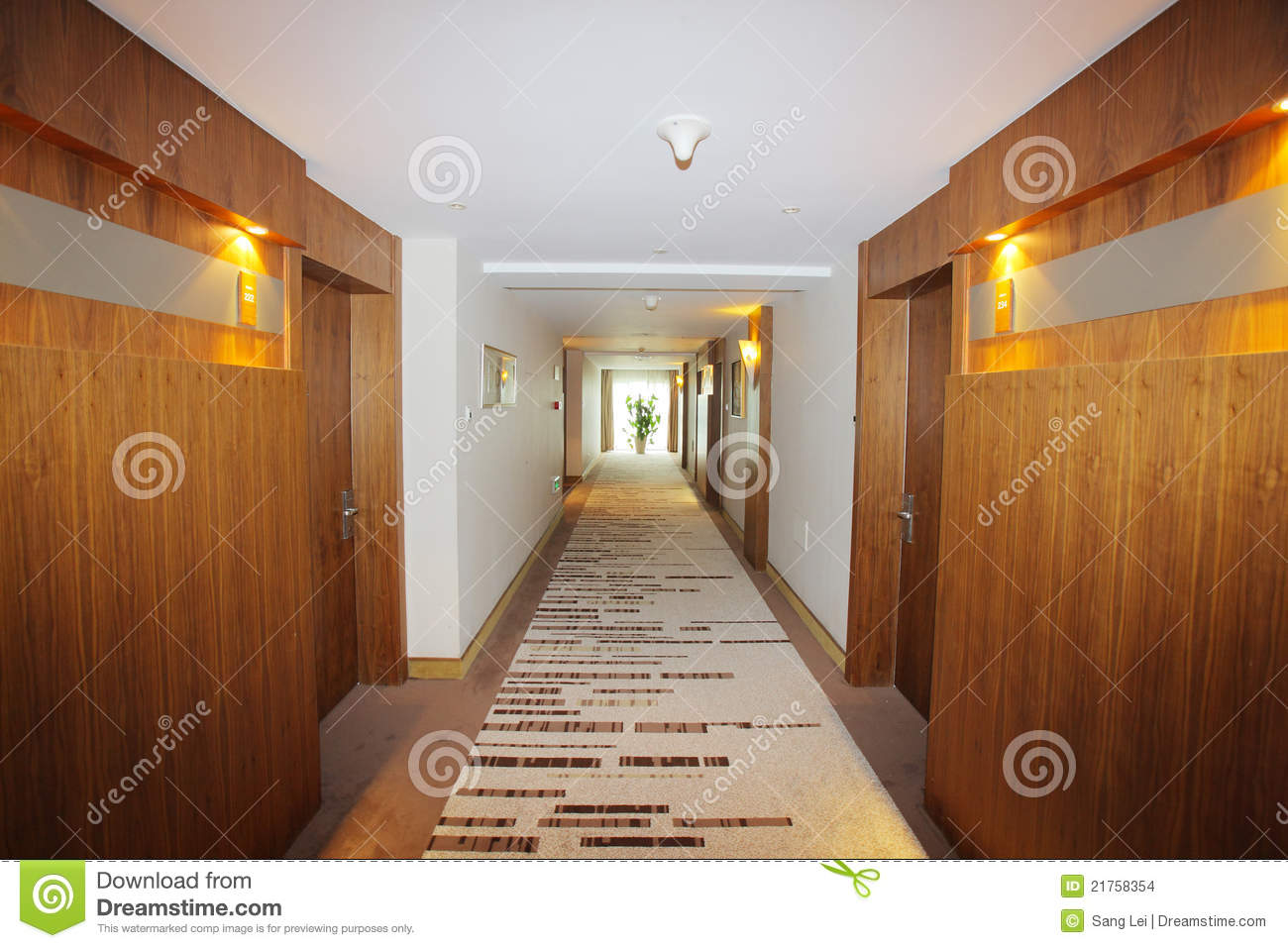 Corridor In Hotel Stock Photo Image Of Inside Interior