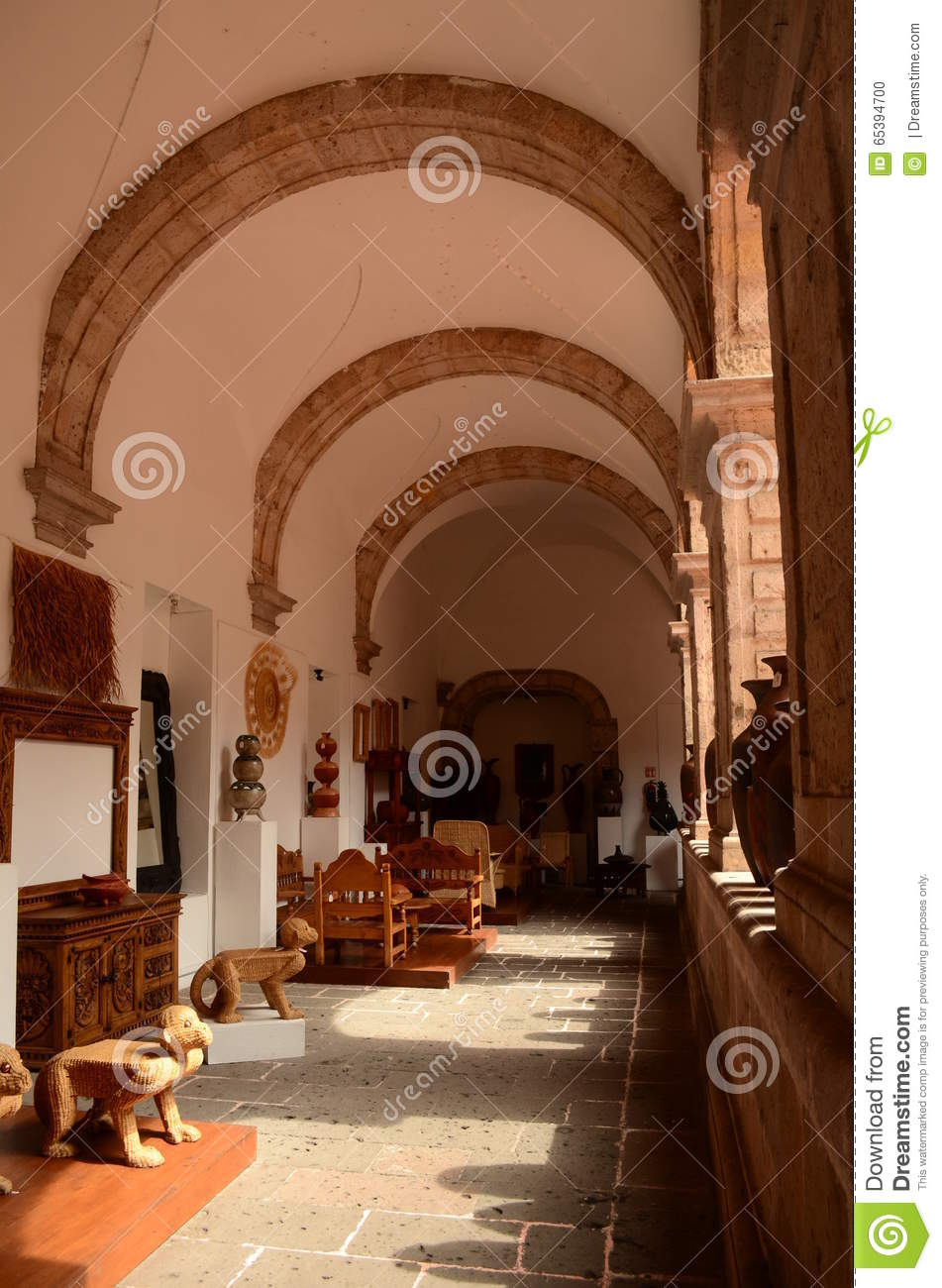 Corridor in the house of the Crafts at Morelia