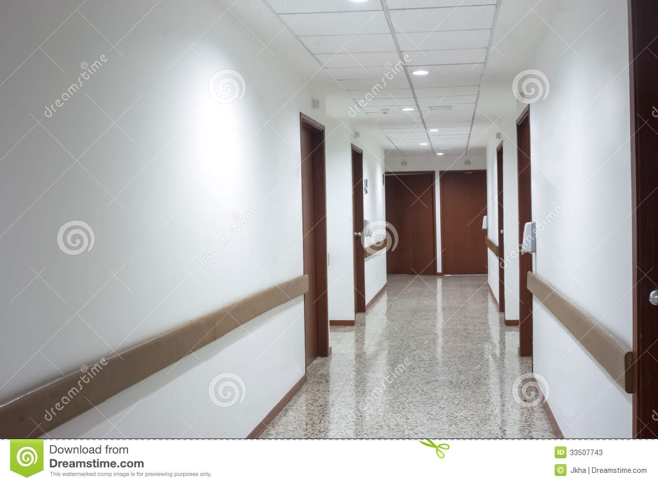 Modern hospital interior - Corridor Interior Inside A Modern Hospital Stock Photos