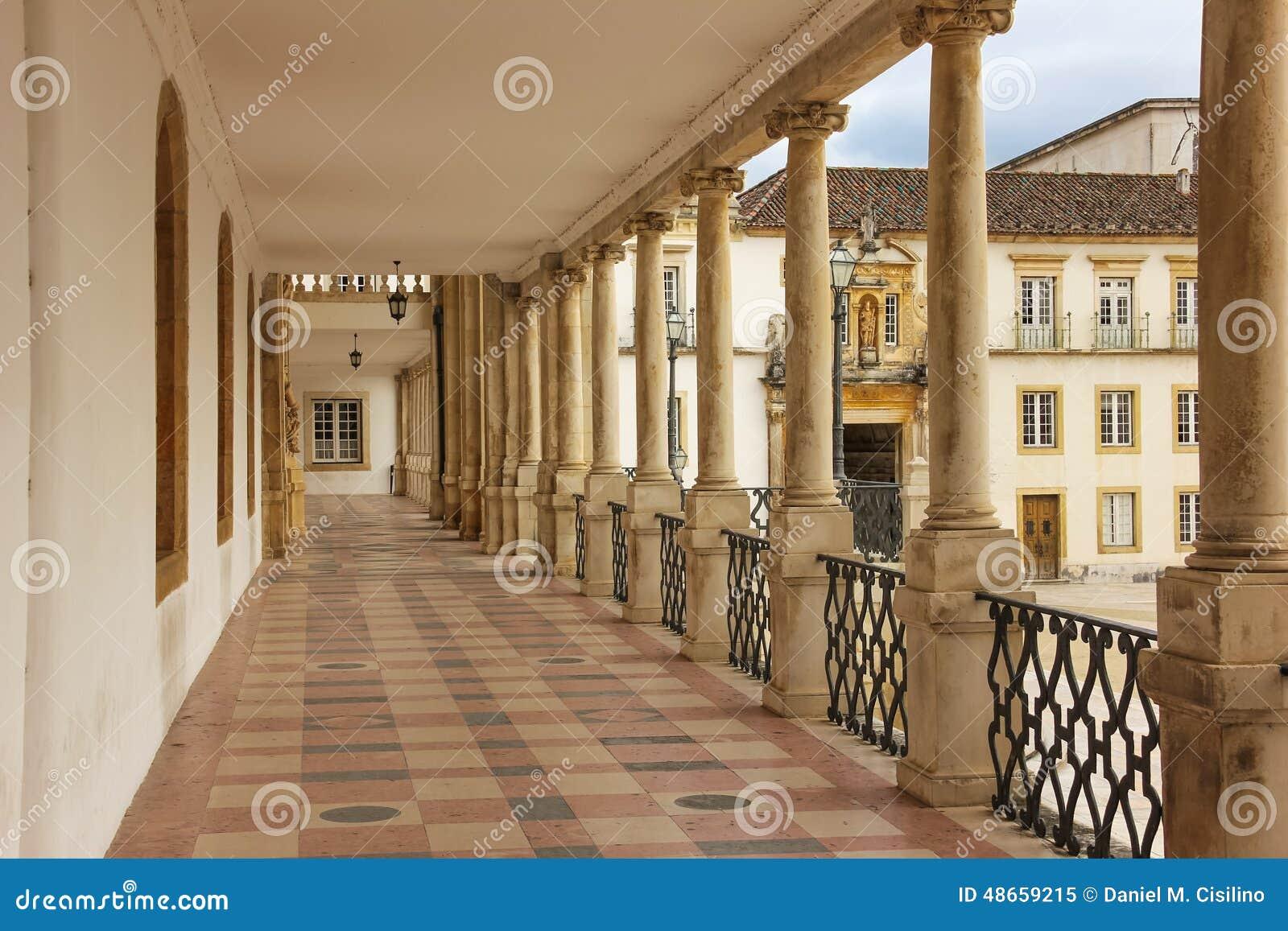 Corridor and main entrance at the university coimbra portugal stock photo image 48659215 - Corridor entrance ...