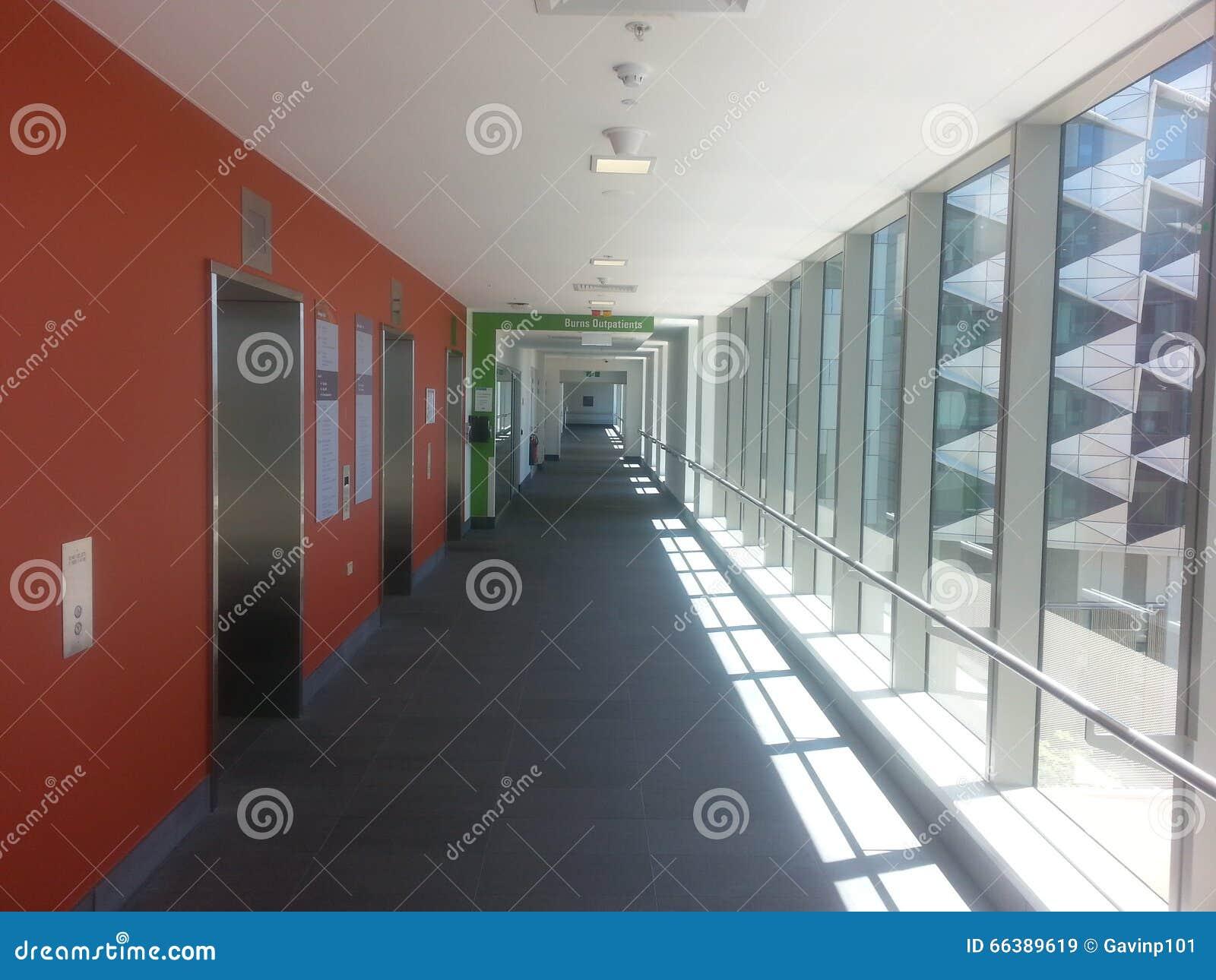 corridor in modern city hospital fiona stanley hospital perth western australia - Hapital Moderne