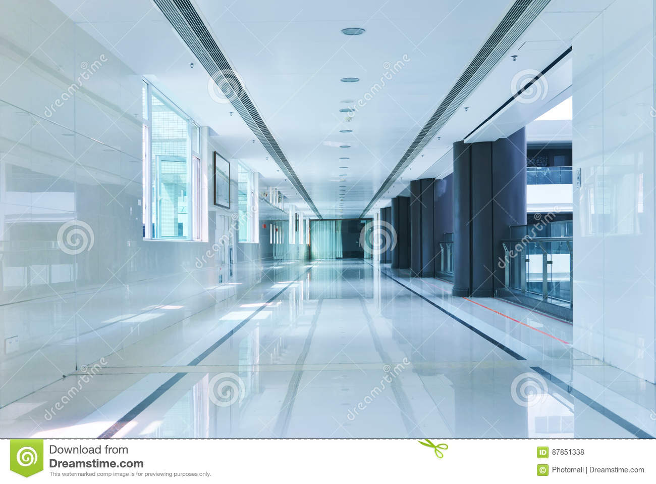 Corridor of modern office building