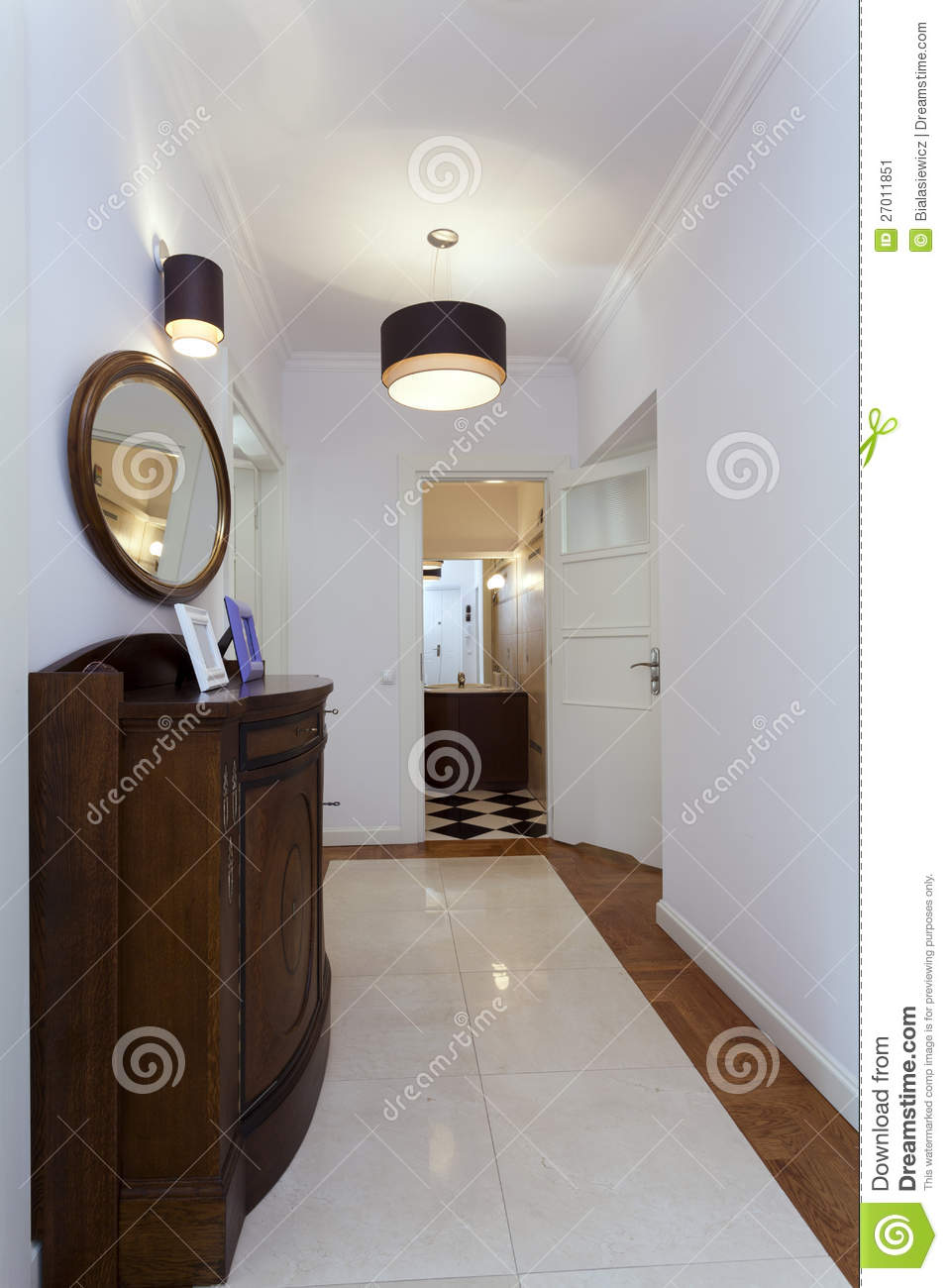 Corridor With Vintage Furniture Stock Image Image 27011851