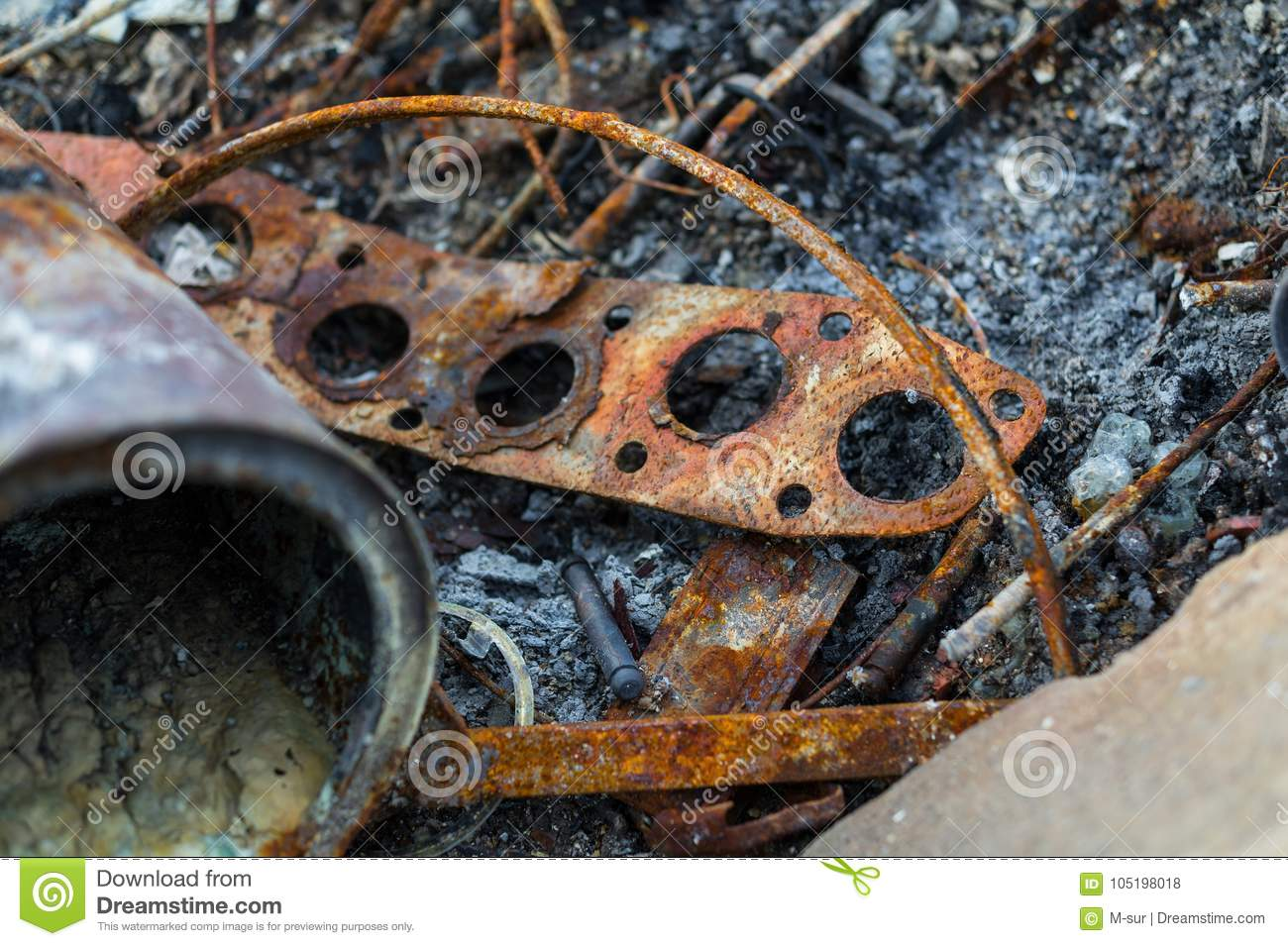 corroded and rusty metallic components stock photo image of dirt