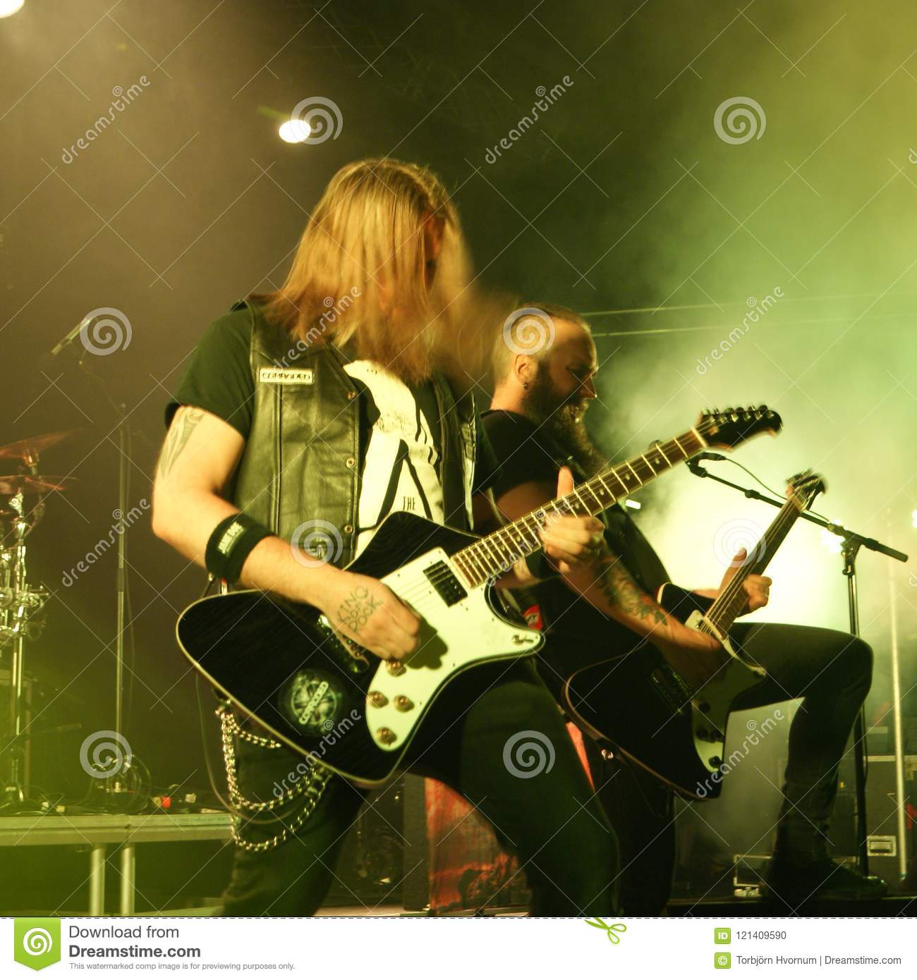Corroded metal band from Sweden
