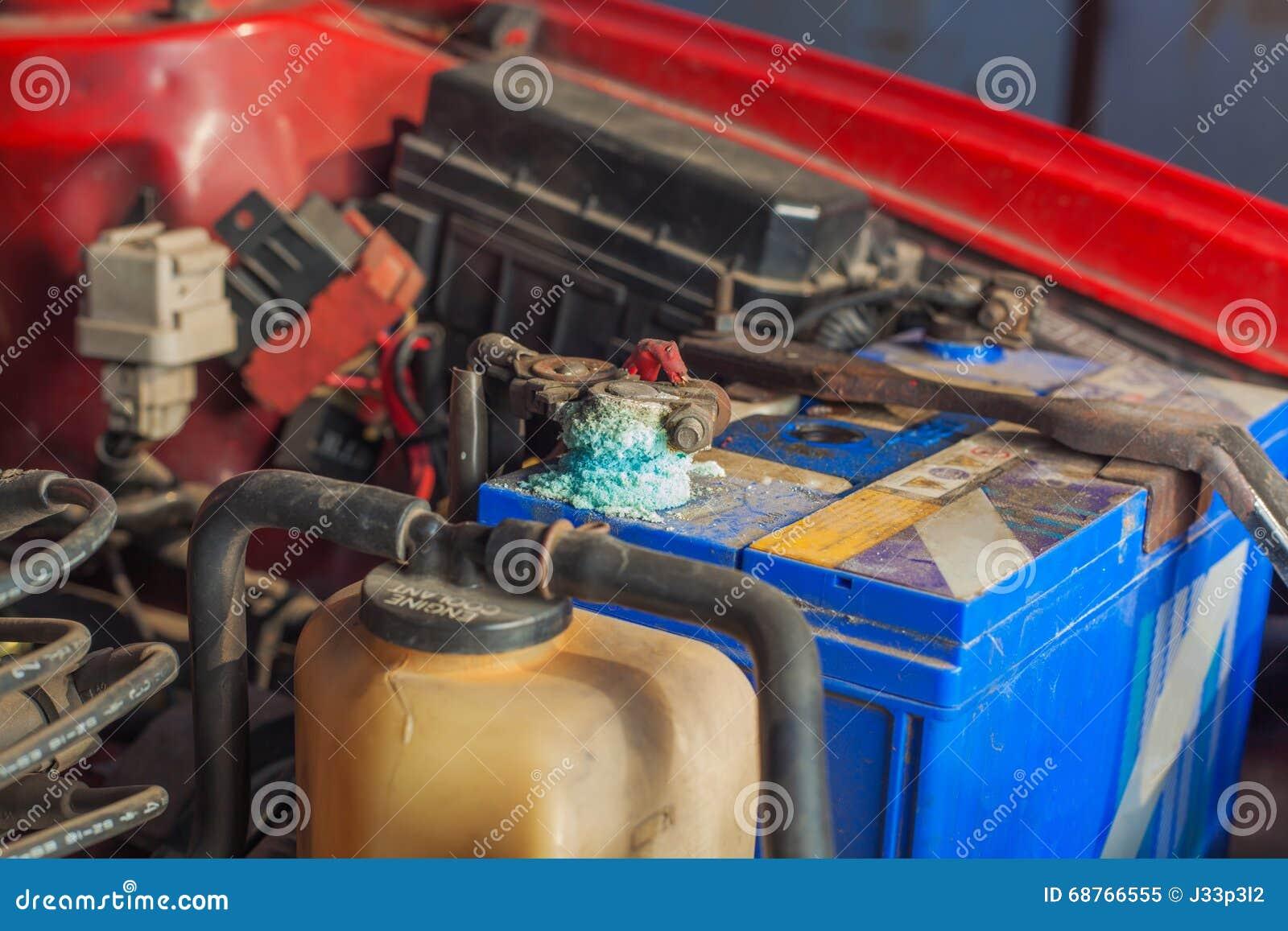Corrosão da bateria de carro
