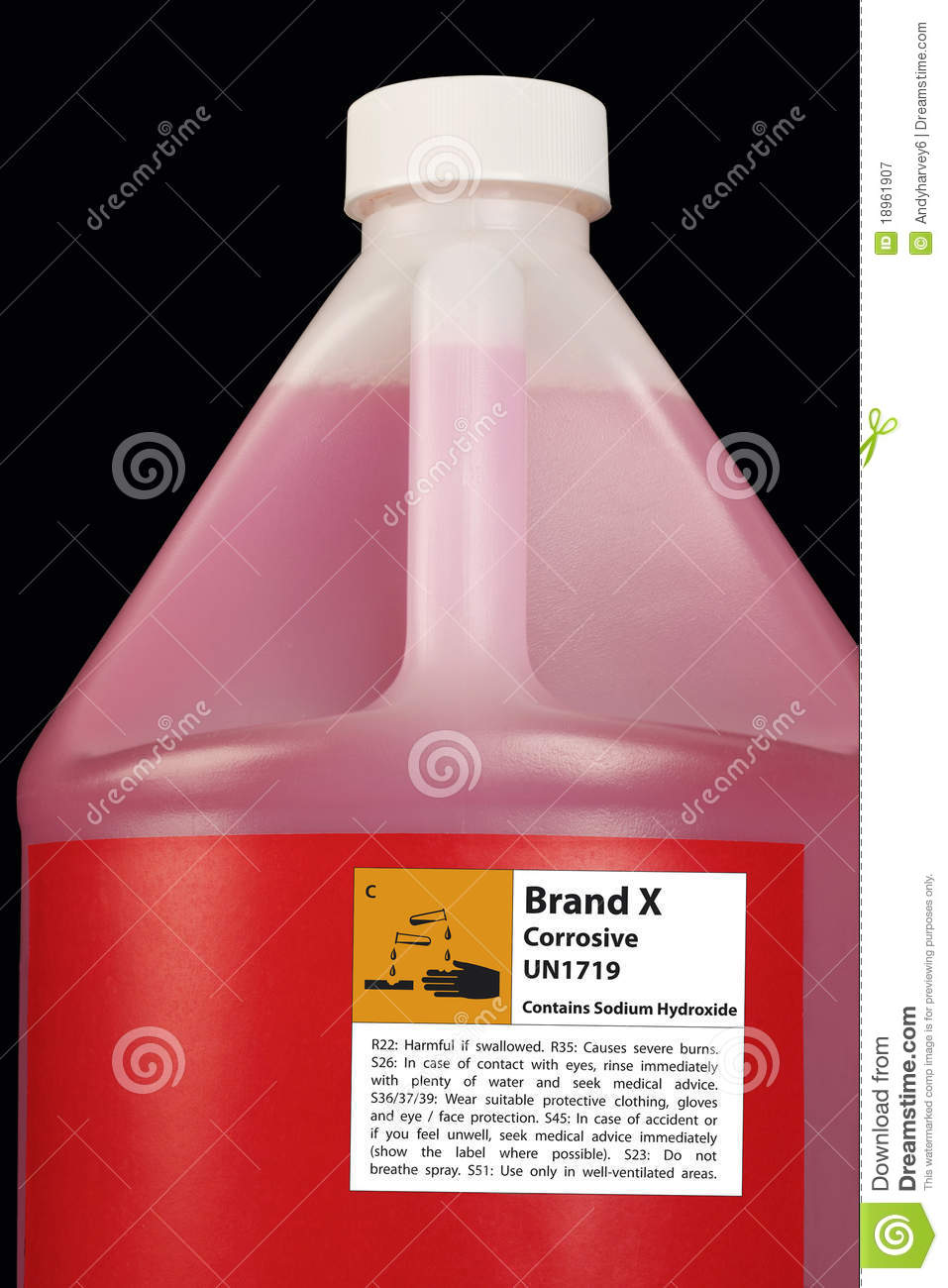Corrosive Chemical Cleaner Royalty Free Stock Photography