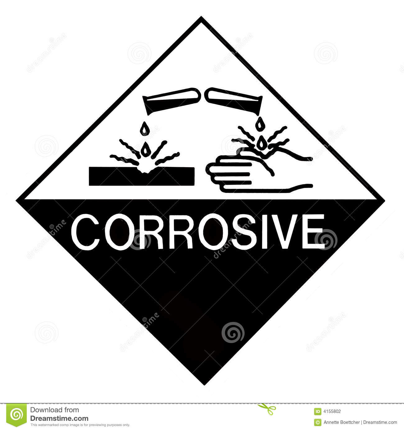 Corrosive Chemical Label Stock Photo Image Of Black Chemicals