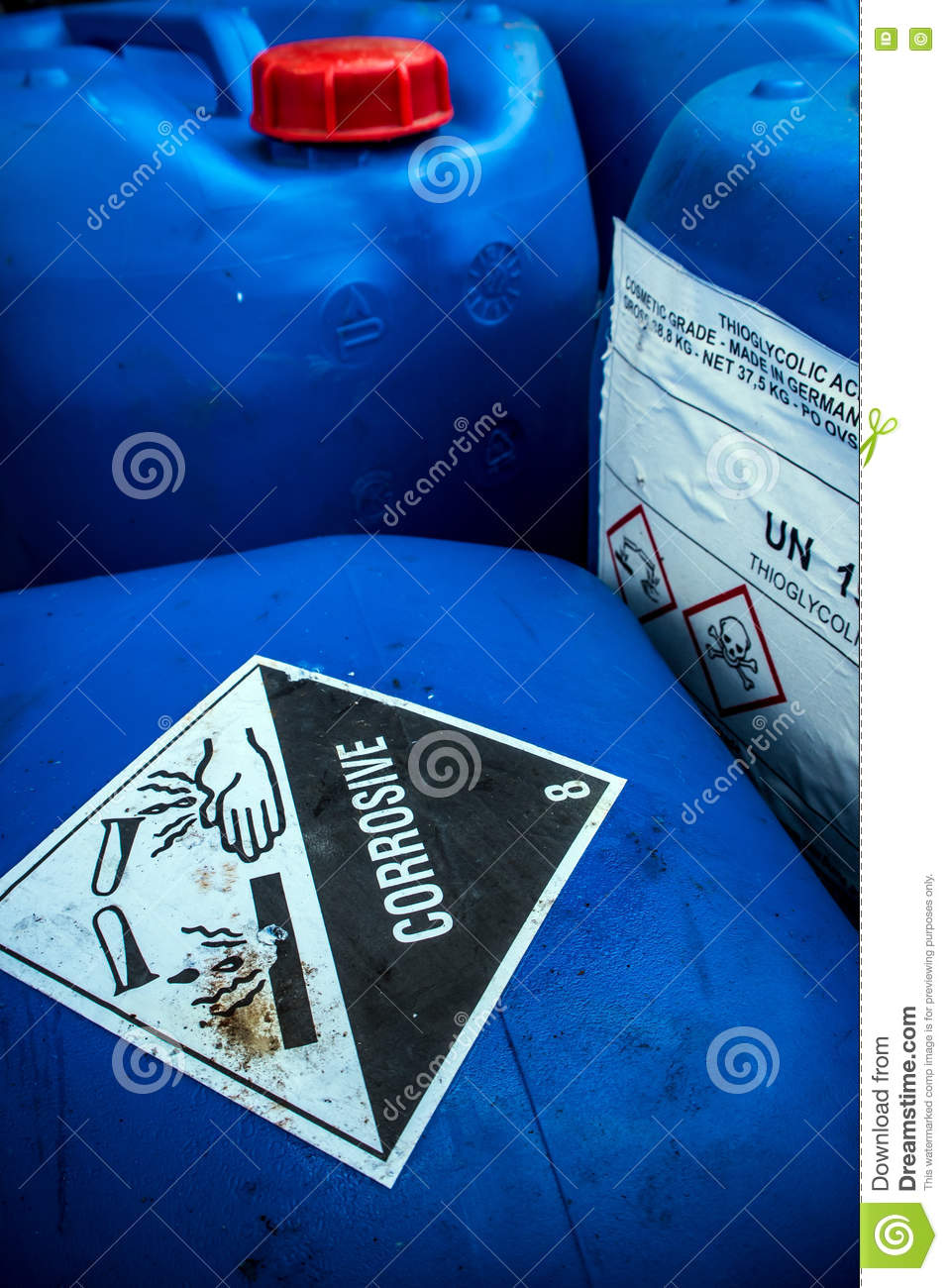 Corrosive Material At The Acid Container Stock Image Image Of
