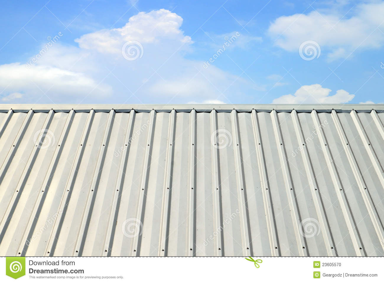 Corrugated Aluminum Roof Stock Photo Image 23605570