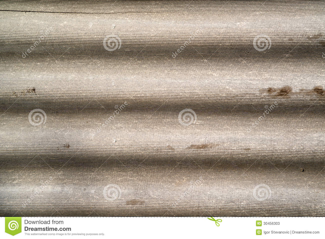Corrugated Asbestos Cement Roof Stock Photos Image 30456303